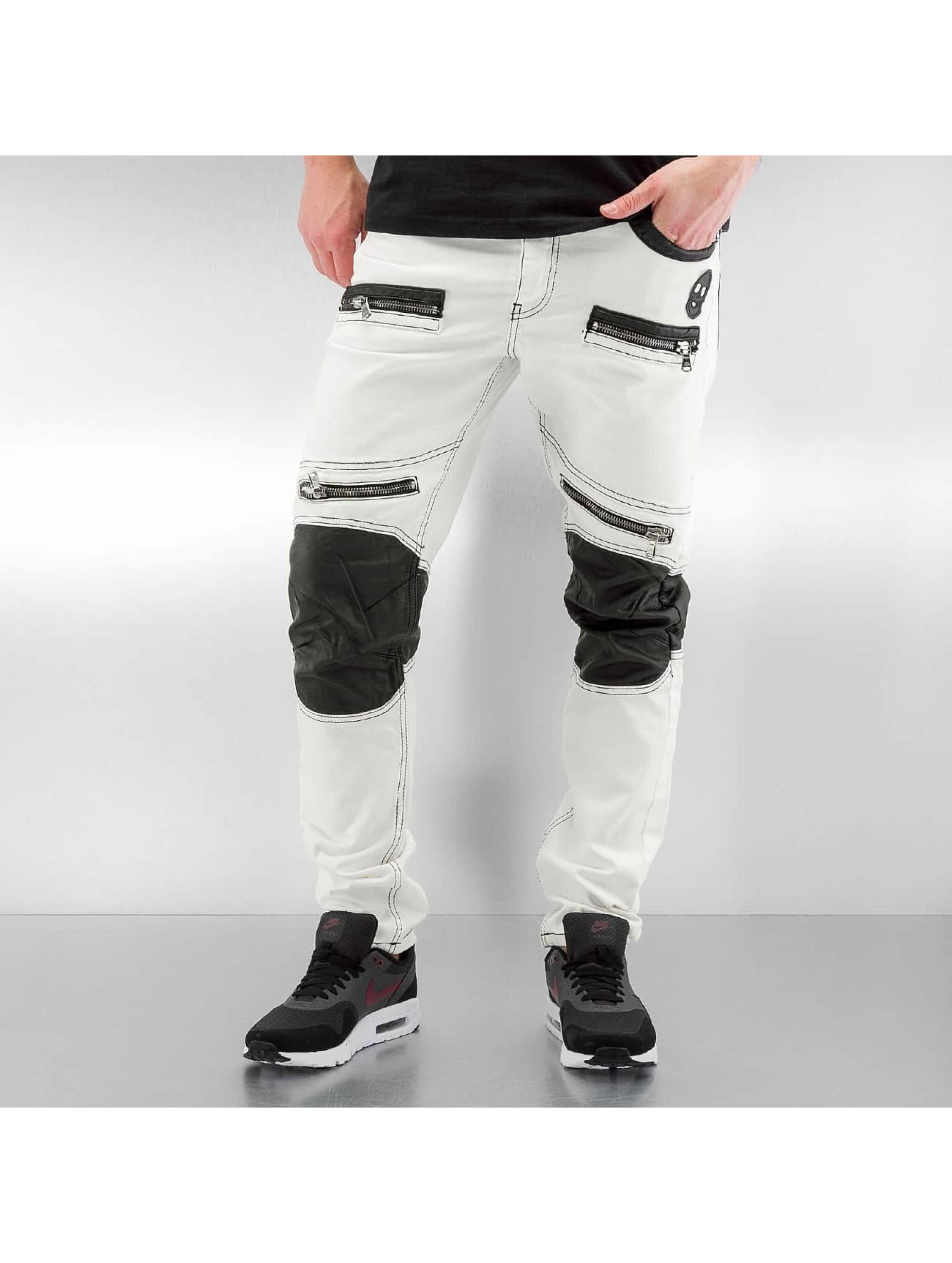 Cipo & Baxx Rovné Fake Leather biela