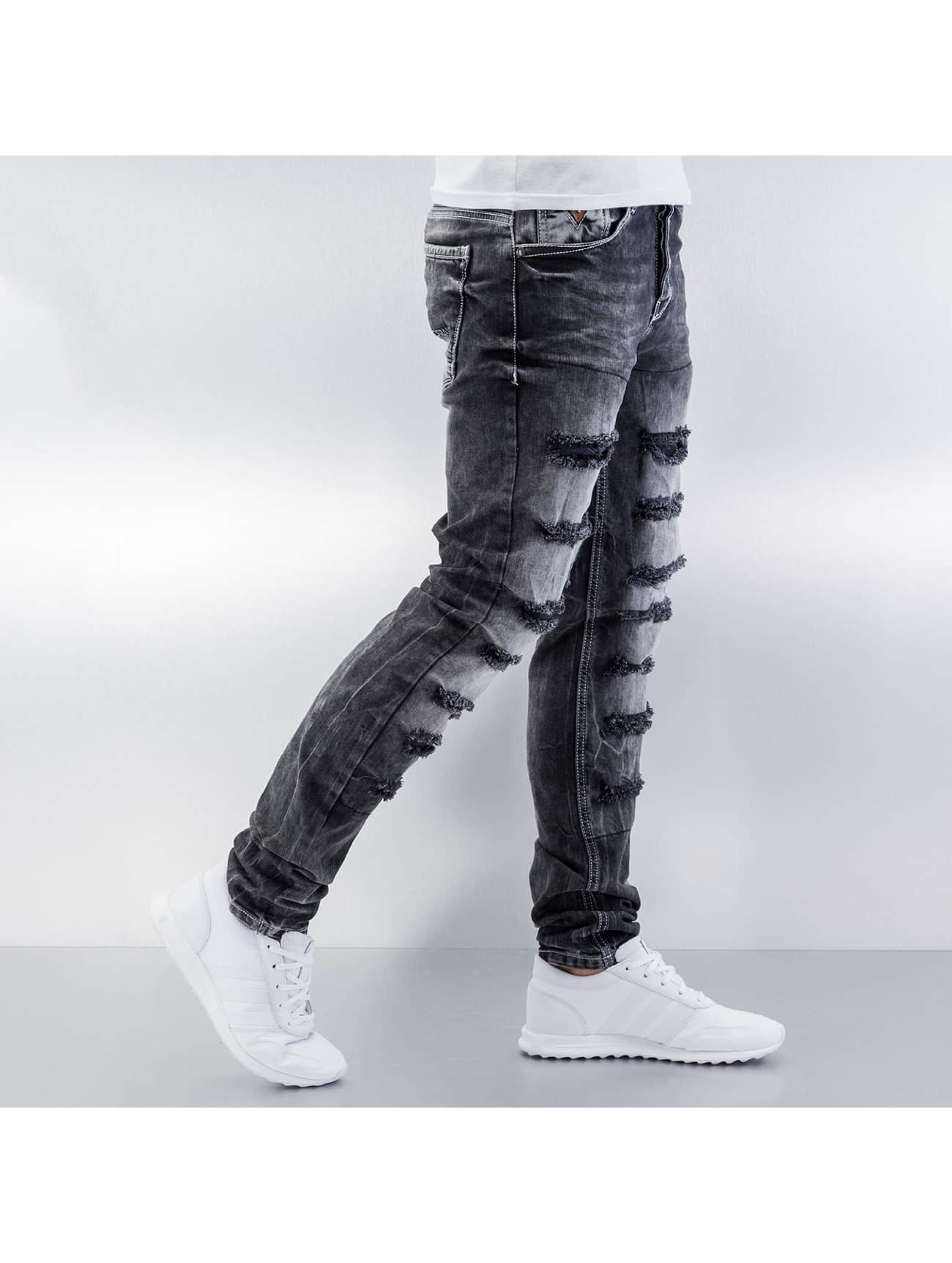 Cipo & Baxx Skinny jeans Destroyed grijs