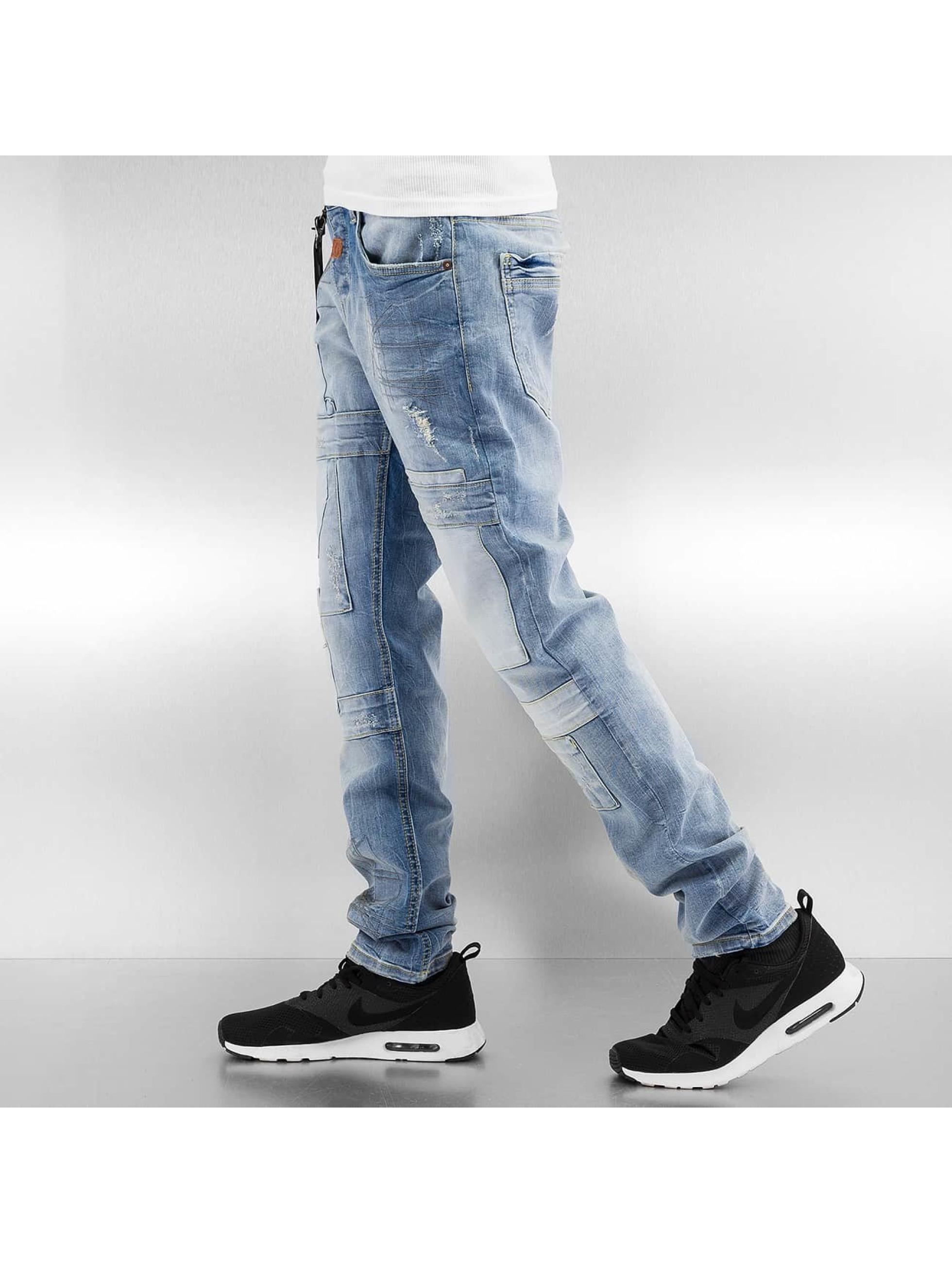 Cipo & Baxx Straight Fit Jeans Delph blå