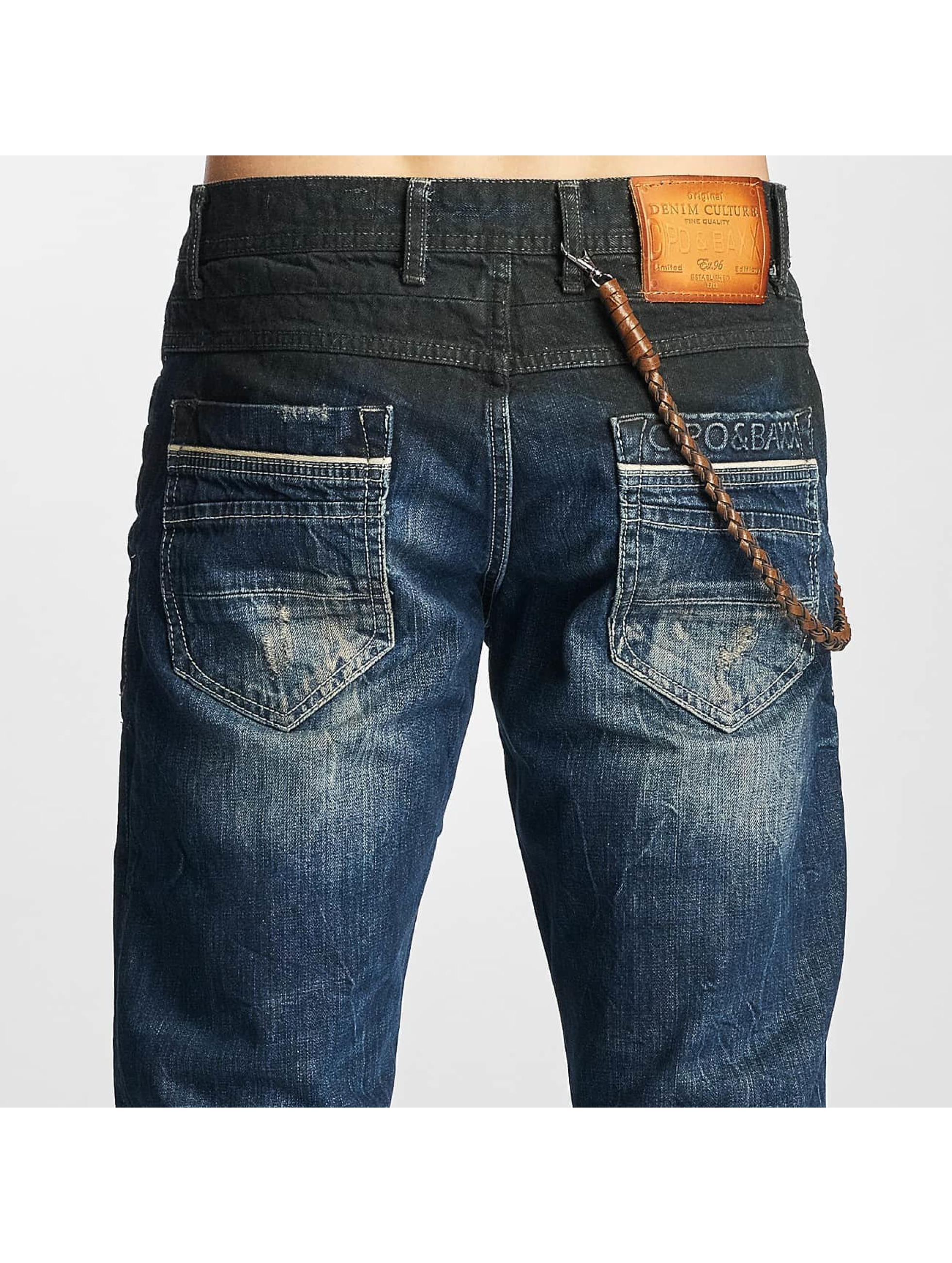 Cipo & Baxx Straight Fit Jeans Shaquan blå
