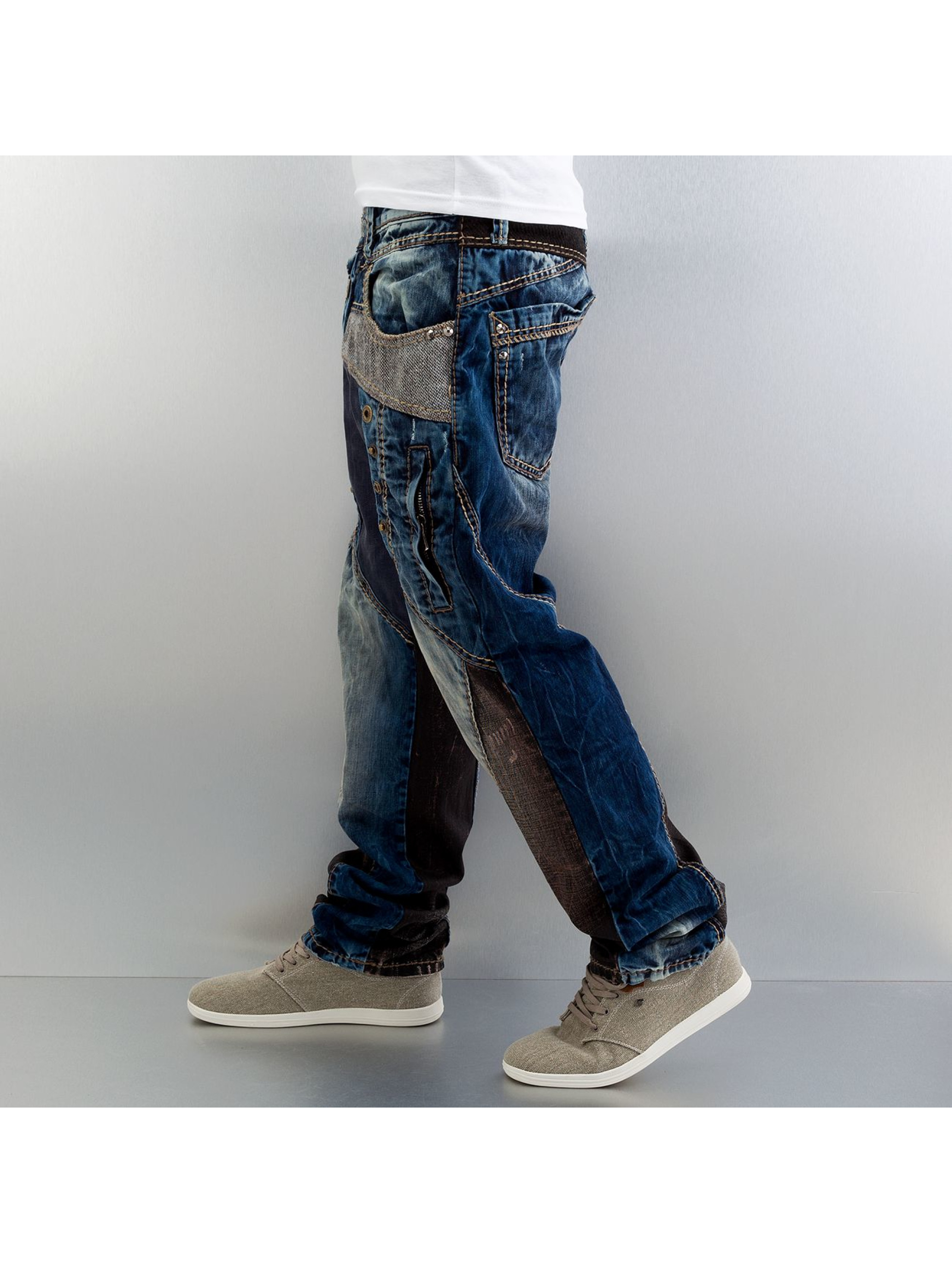 Cipo & Baxx Straight Fit Jeans Safe blau