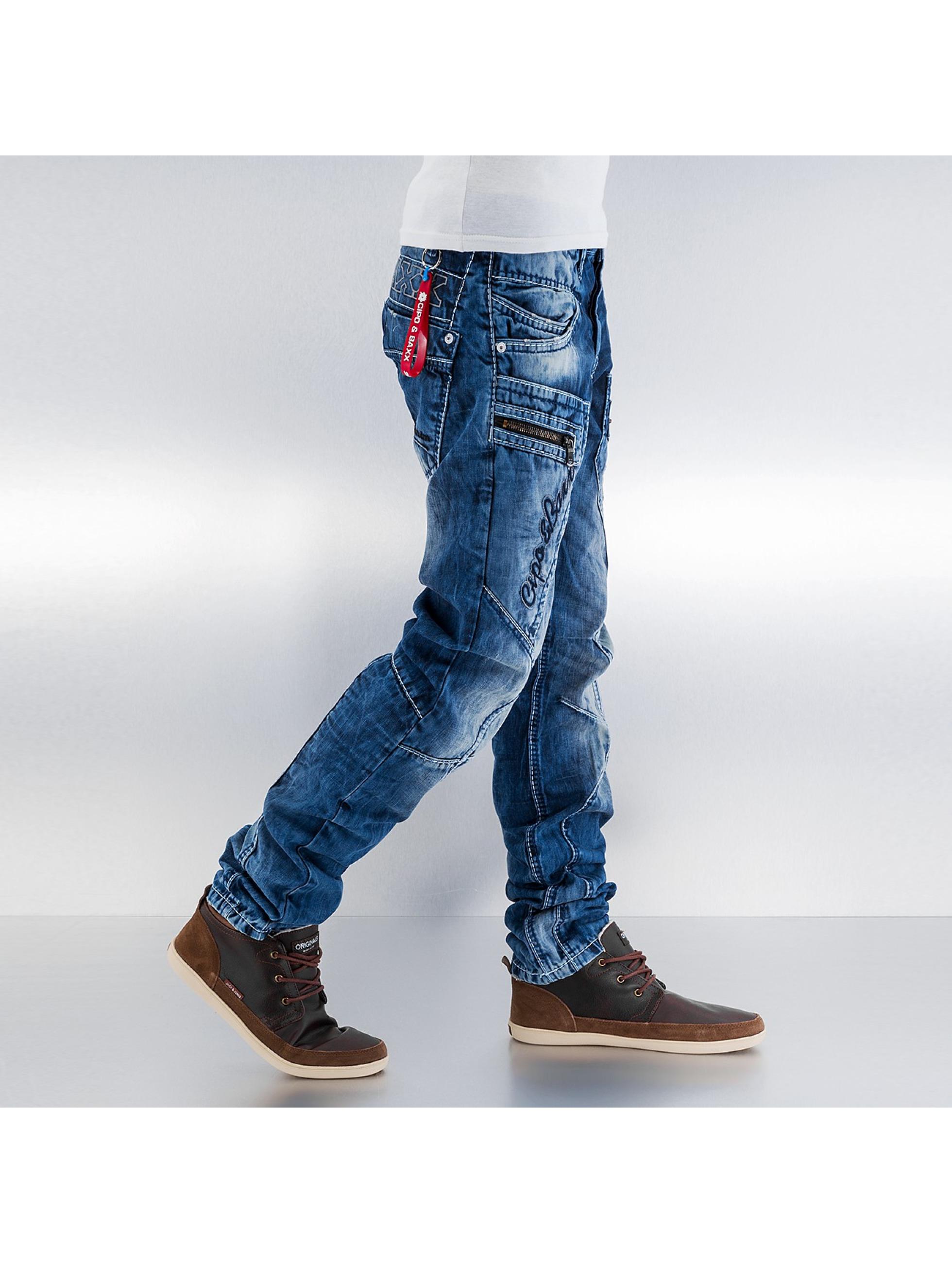 cipo baxx herren straight fit jeans santo in blau 155993. Black Bedroom Furniture Sets. Home Design Ideas