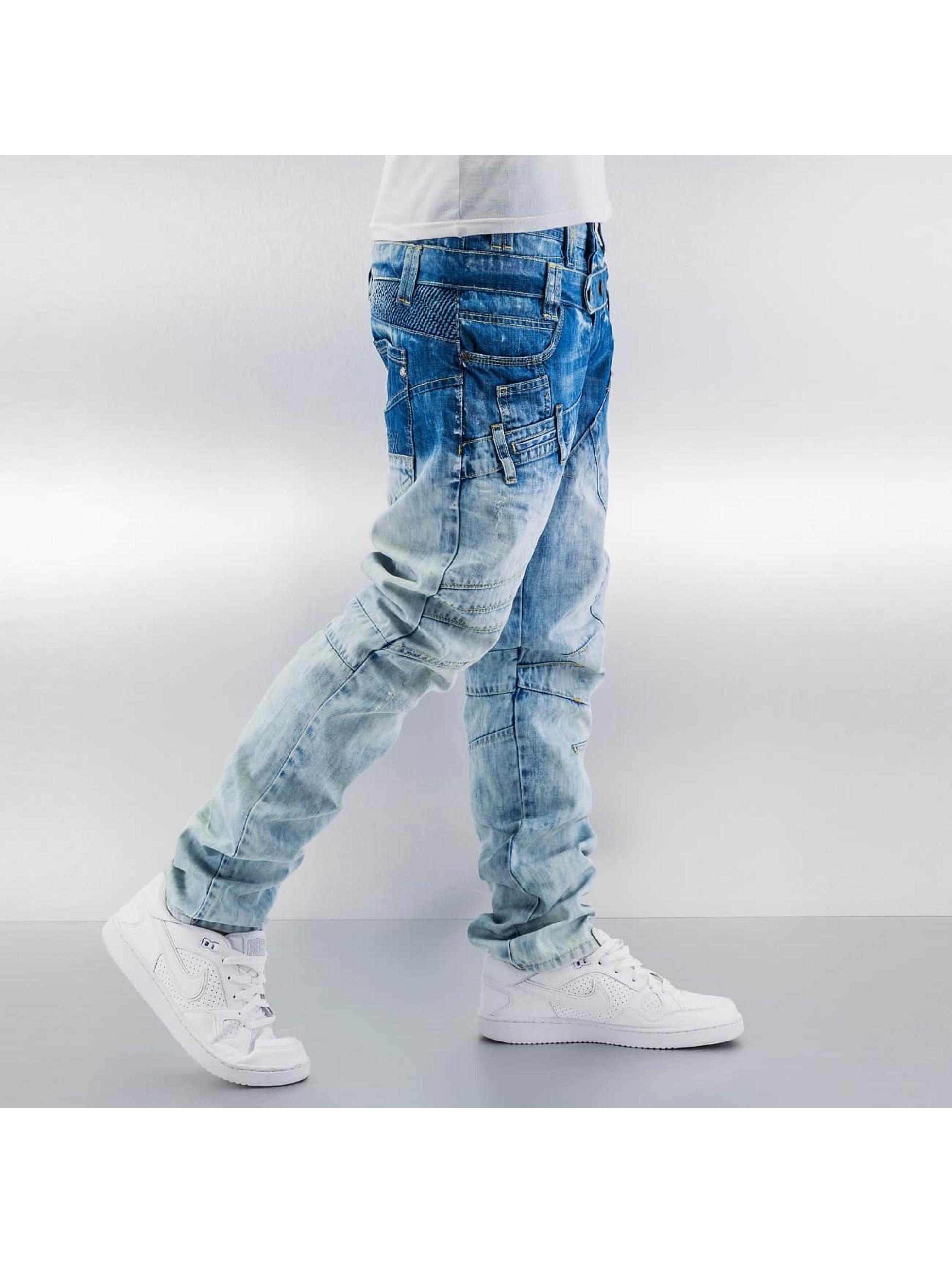 Cipo & Baxx Straight Fit Jeans Sew blau
