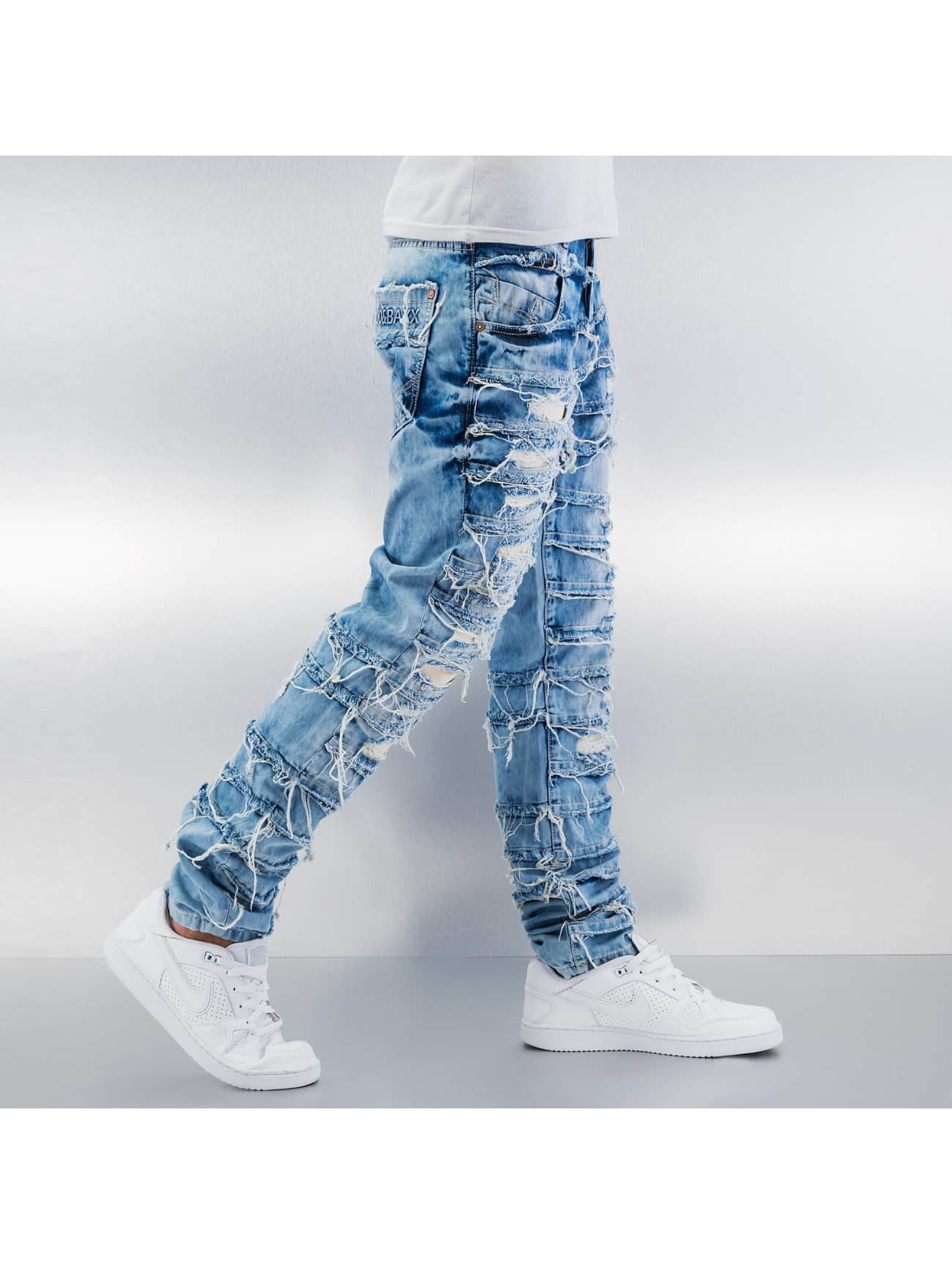 Cipo & Baxx Straight Fit Jeans Fray blau