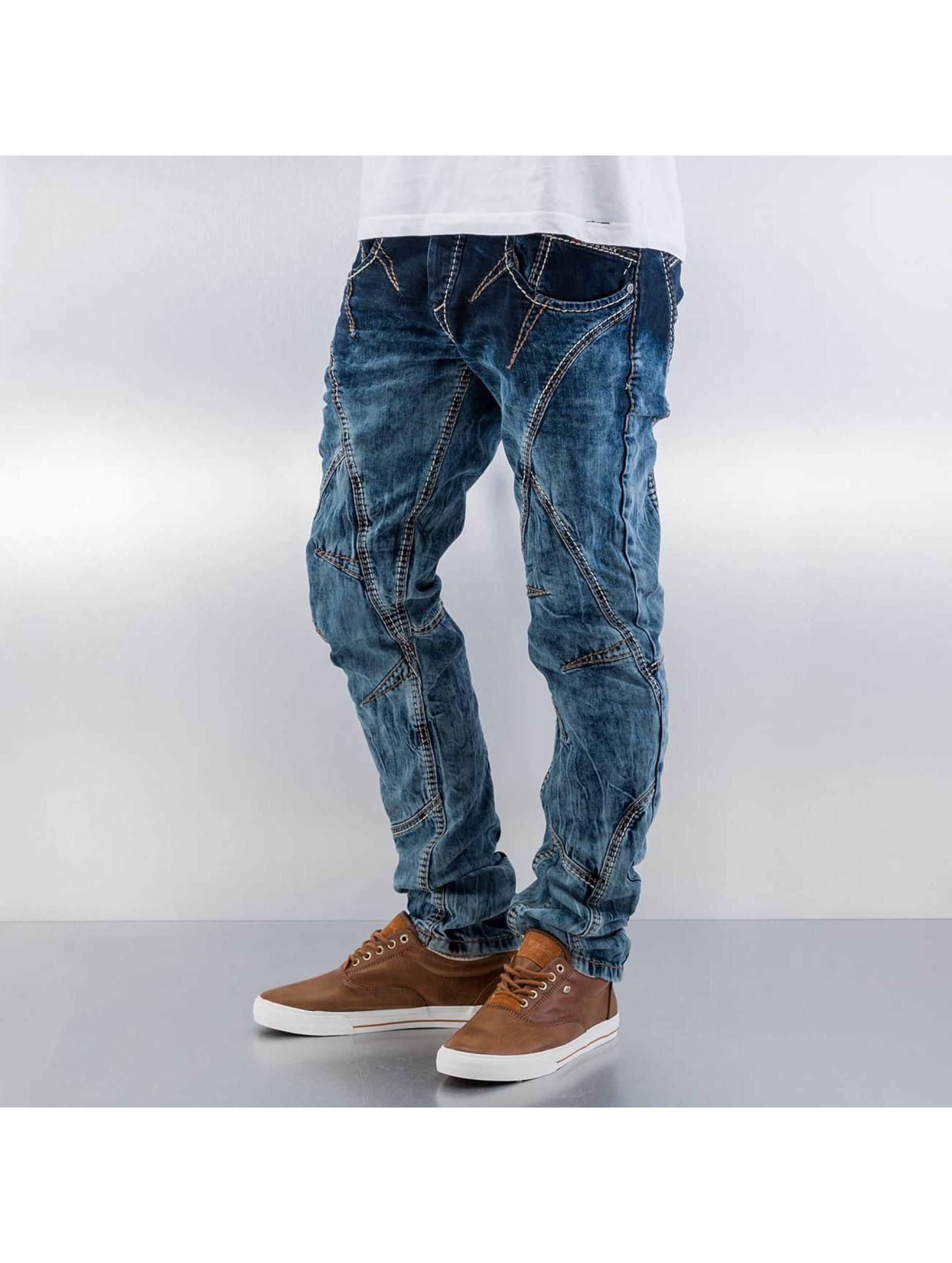 Cipo & Baxx Straight Fit Jeans Topstitching blau