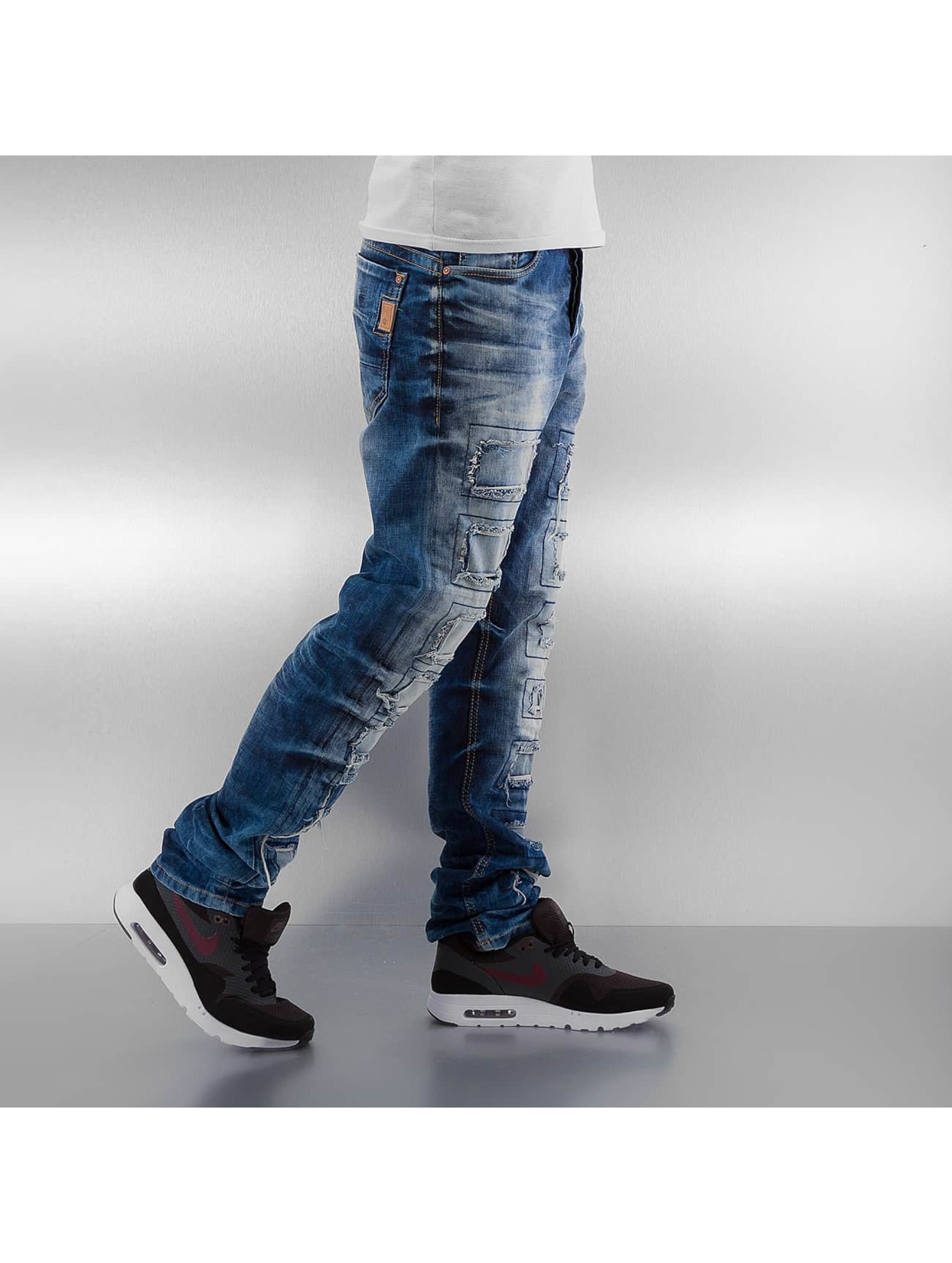 Cipo & Baxx Straight Fit Jeans Gipar blau