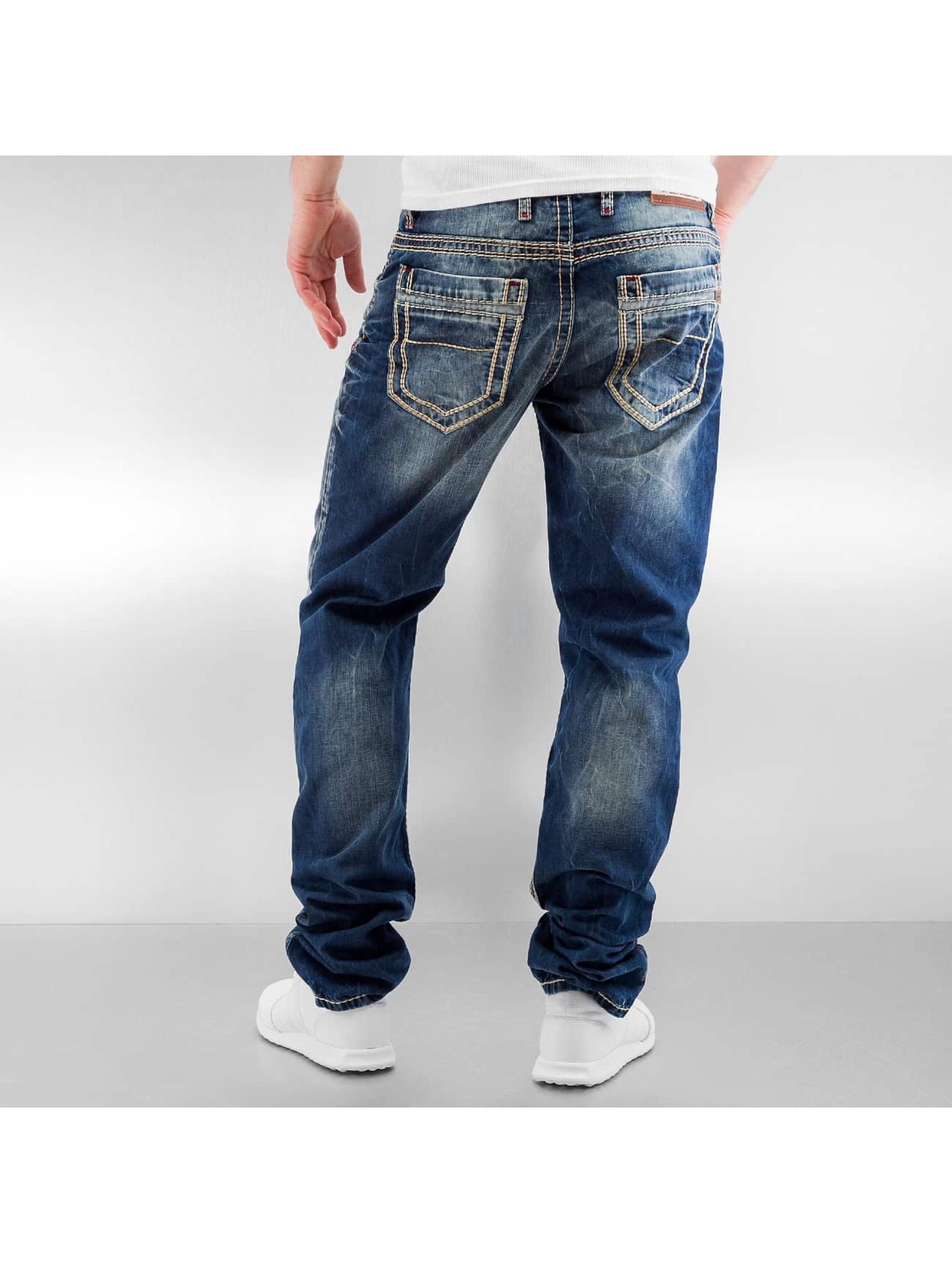 Cipo & Baxx Straight Fit Jeans Seam II blau