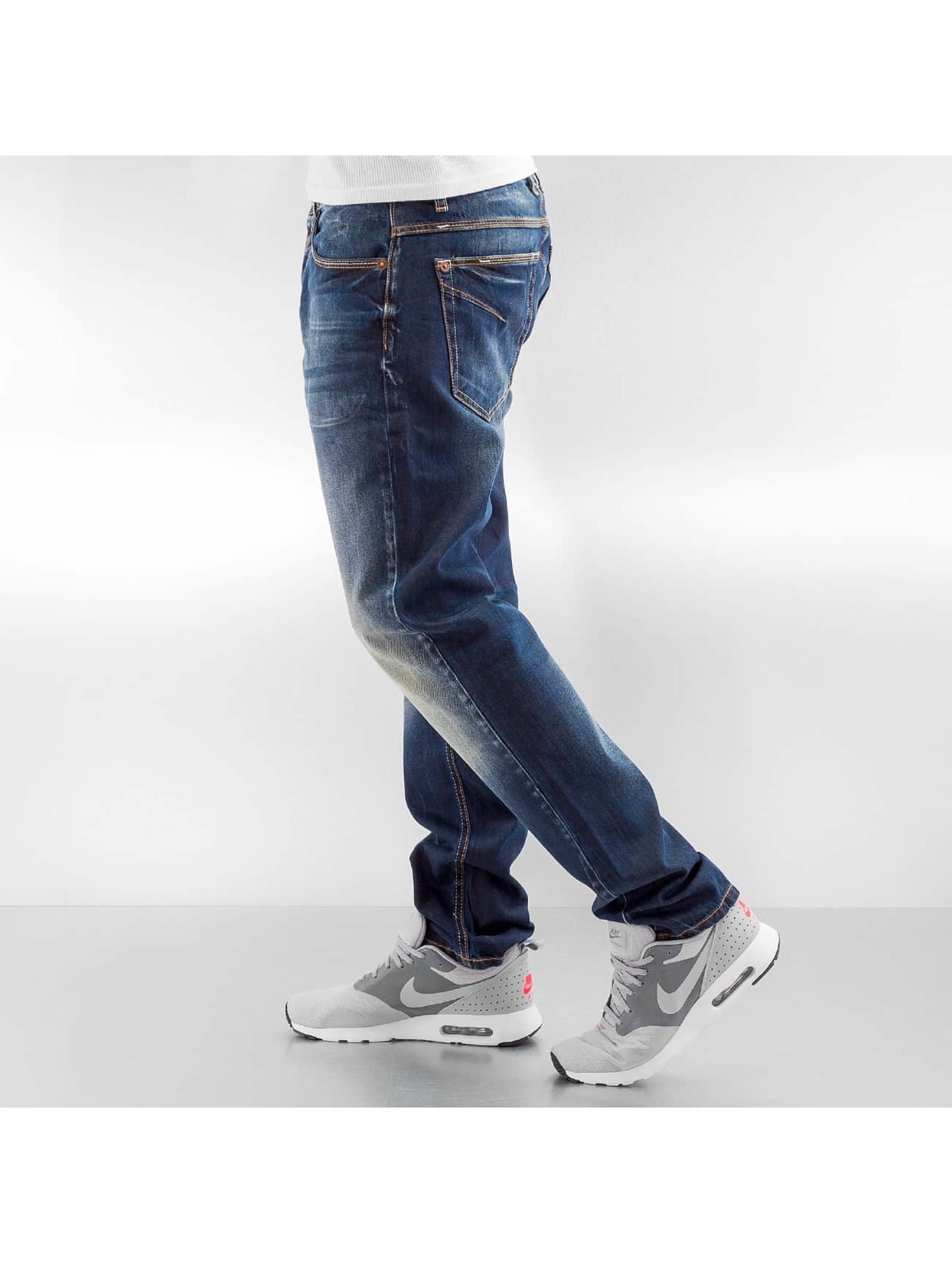 Cipo & Baxx Straight Fit Jeans Wash blau