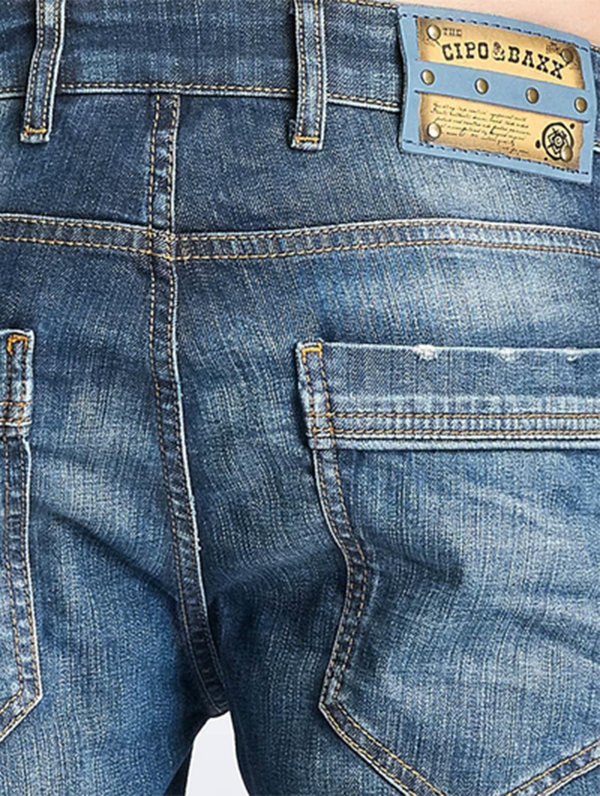 Cipo & Baxx Straight Fit Jeans Engels blau