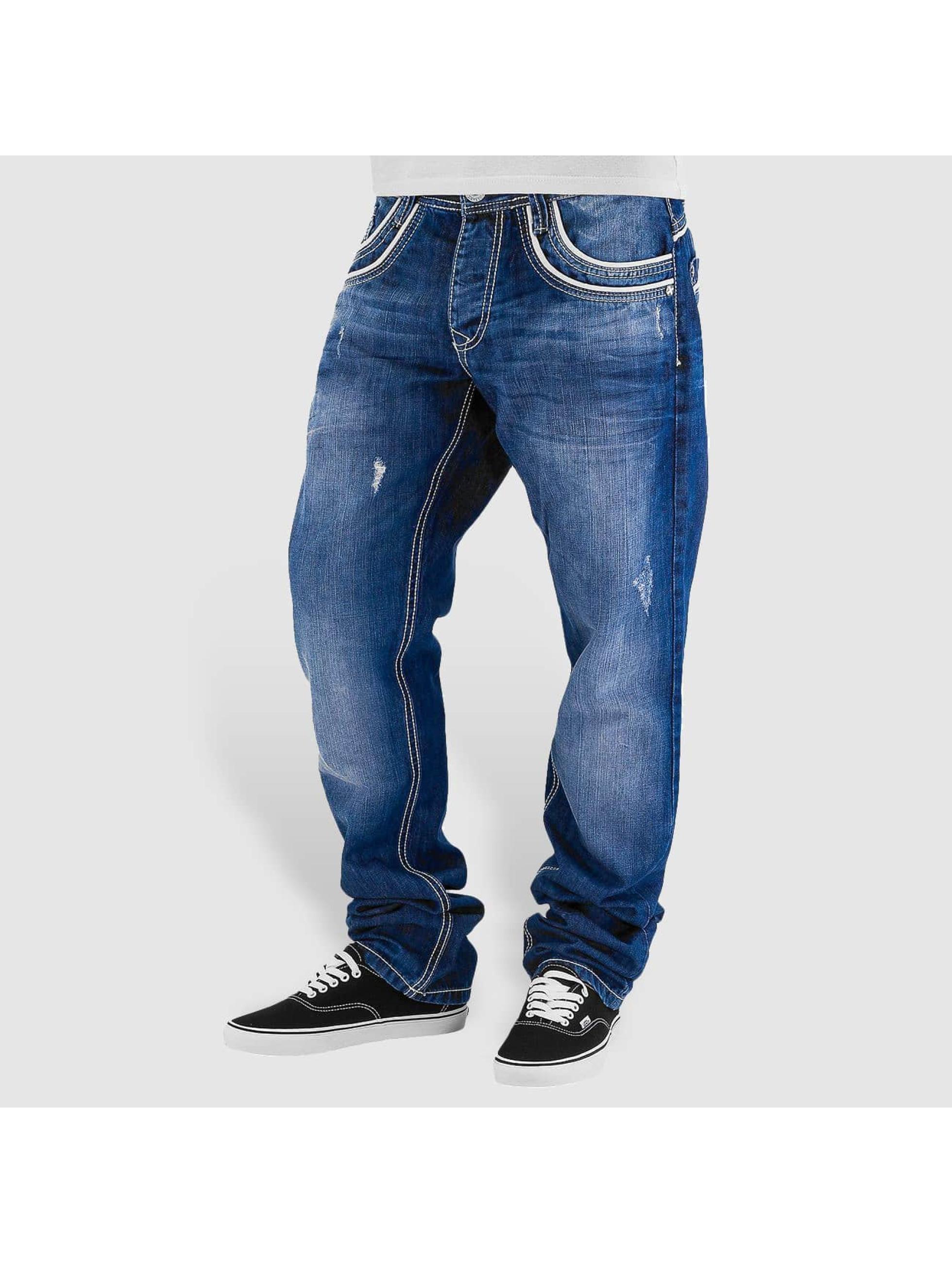 Cipo & Baxx Straight fit jeans Simba blauw