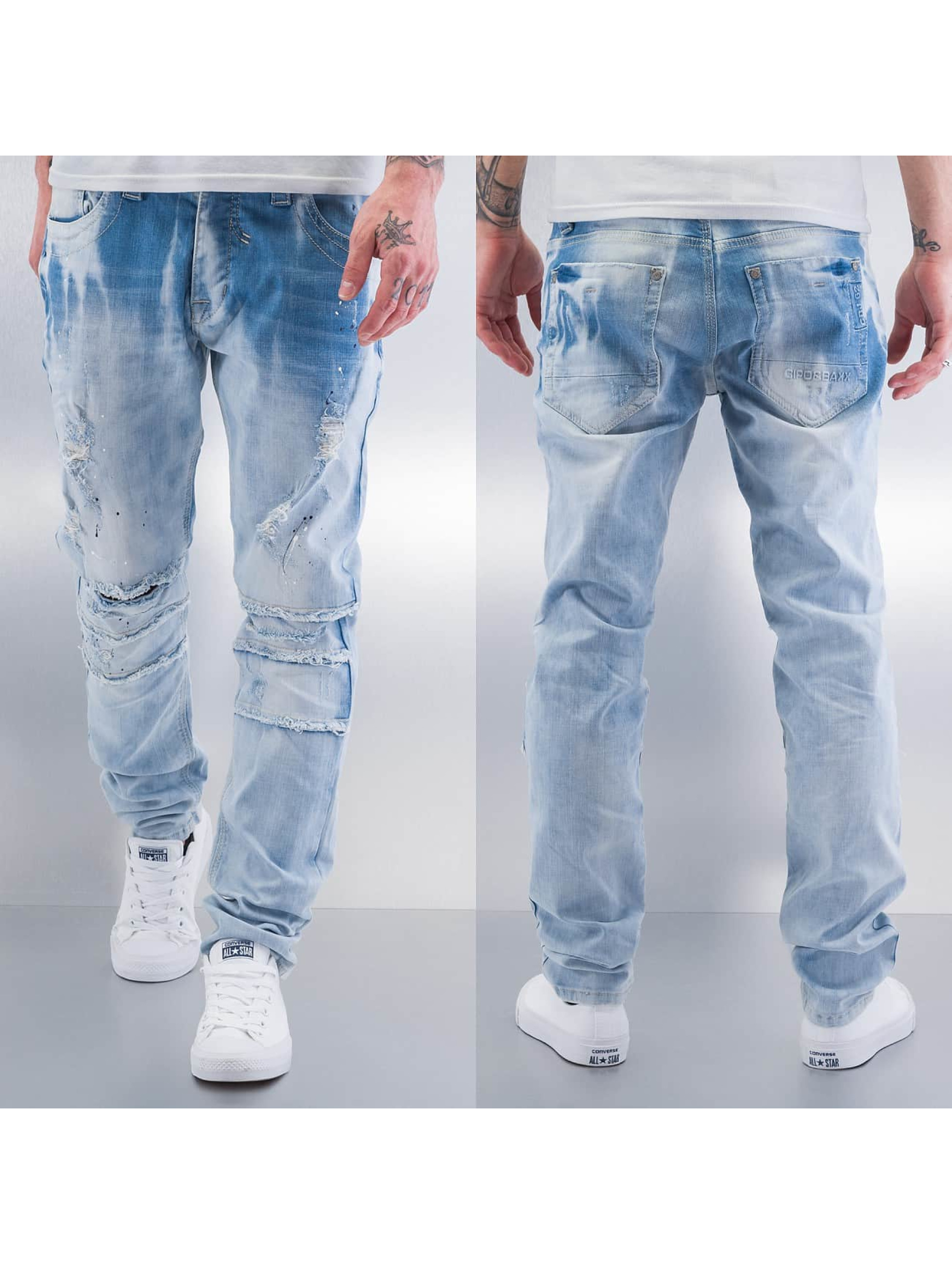 Cipo & Baxx Straight fit jeans Nilay blauw