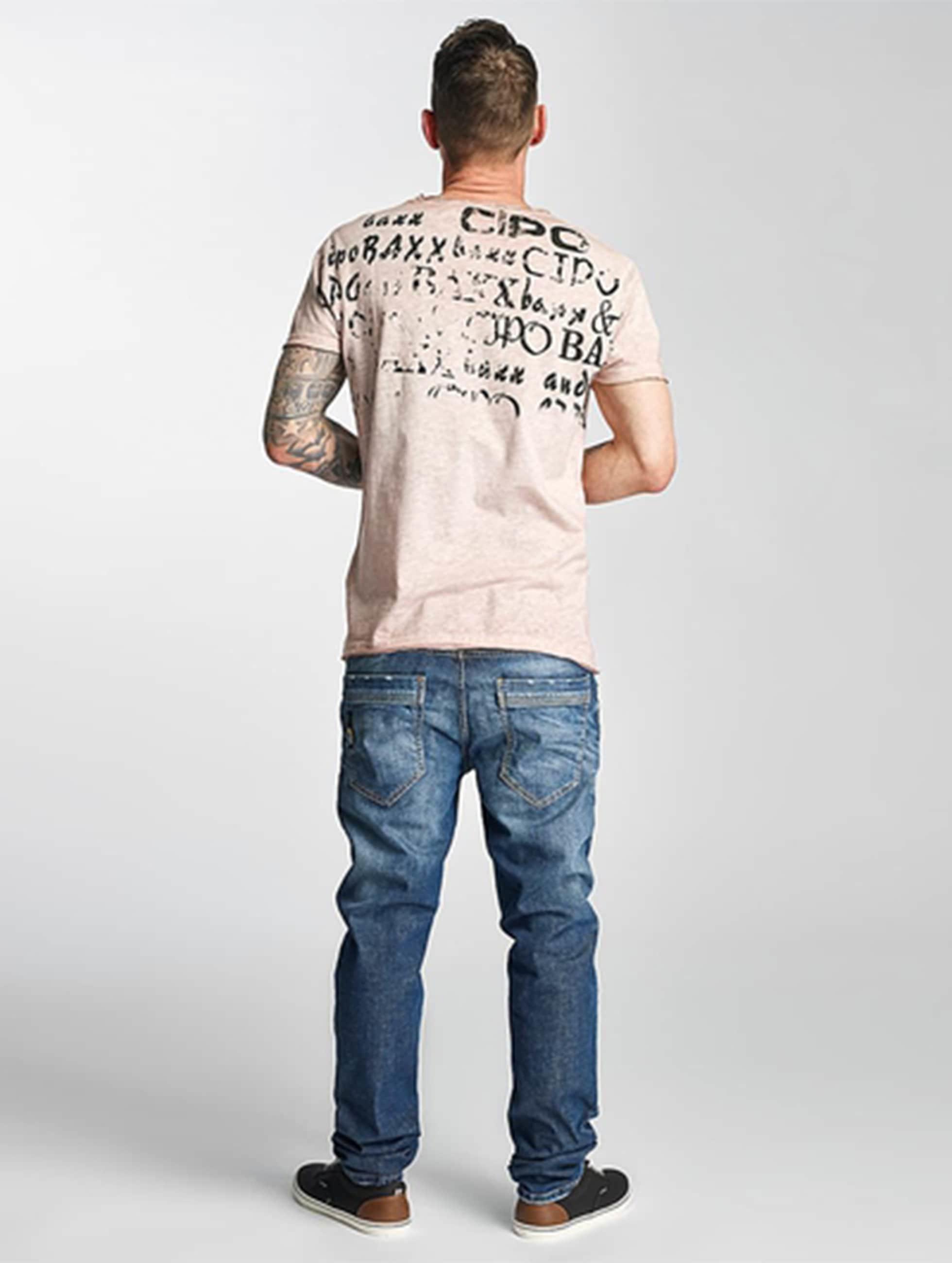 Cipo & Baxx Straight fit jeans Engels blauw