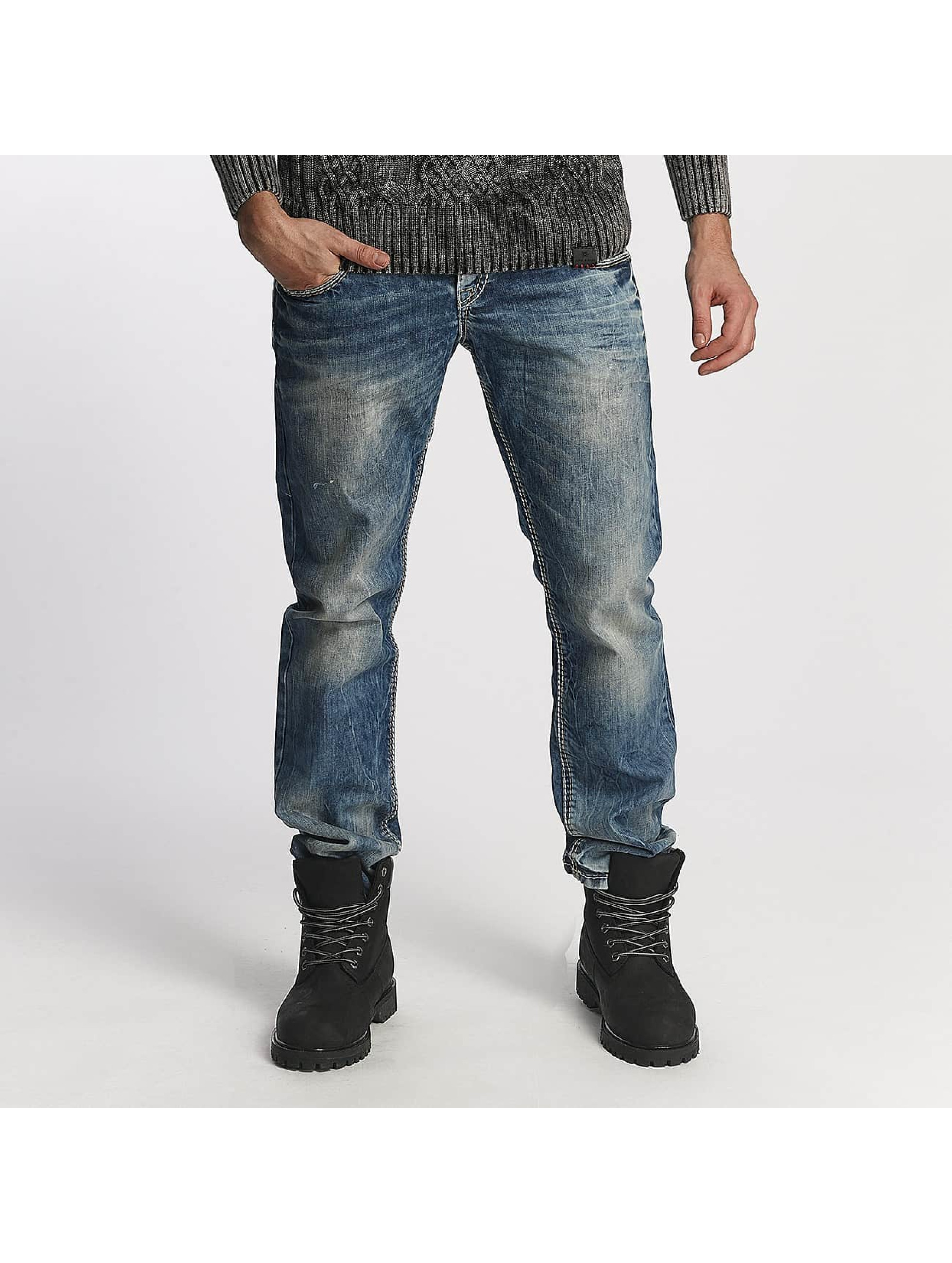 Cipo & Baxx Straight fit jeans Used blauw
