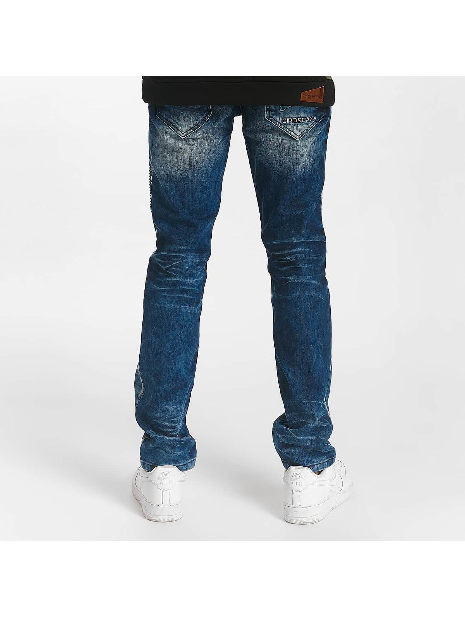Cipo & Baxx Straight fit jeans Sense blauw