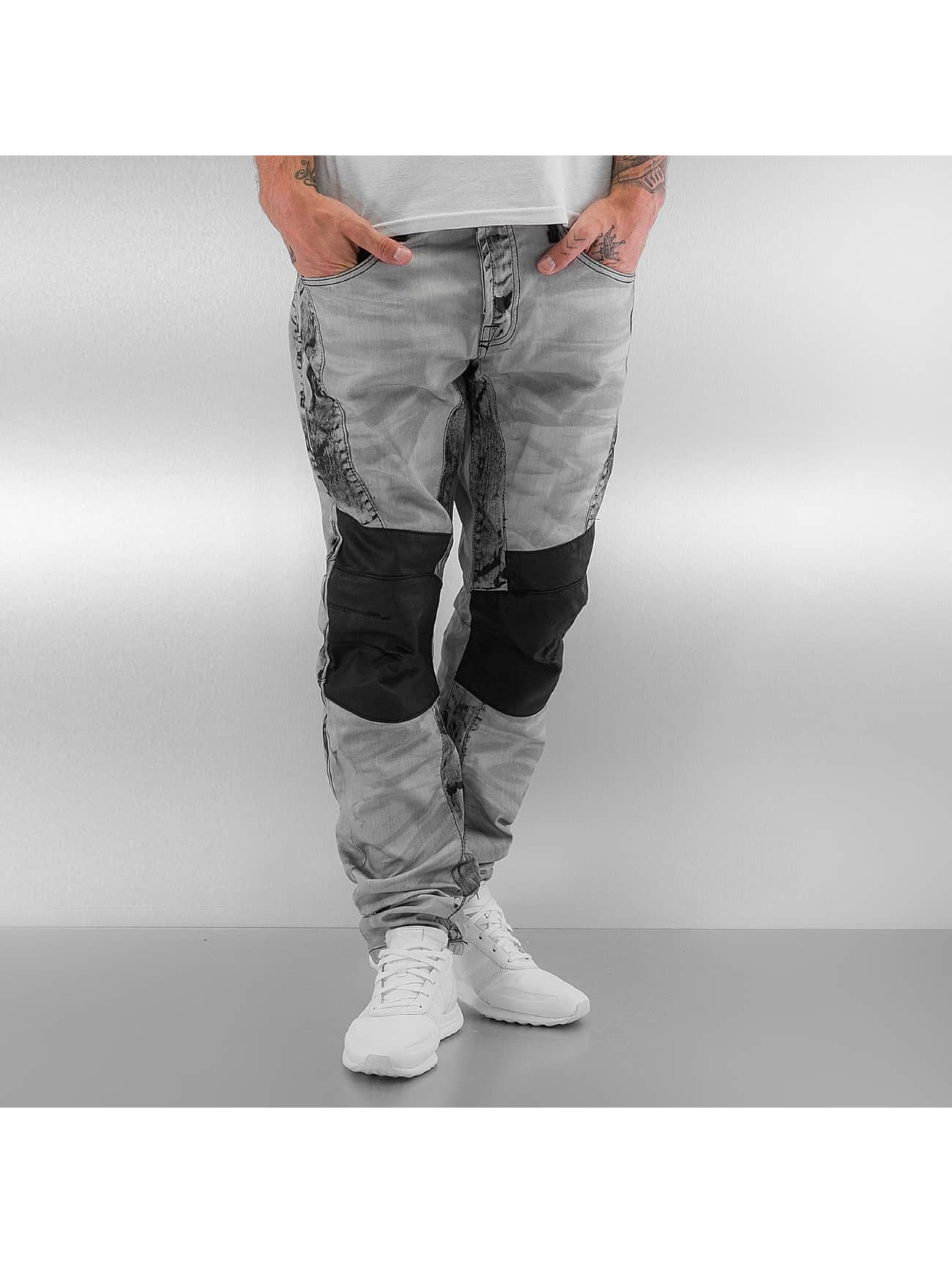 Cipo & Baxx Straight fit jeans Kobbi grijs
