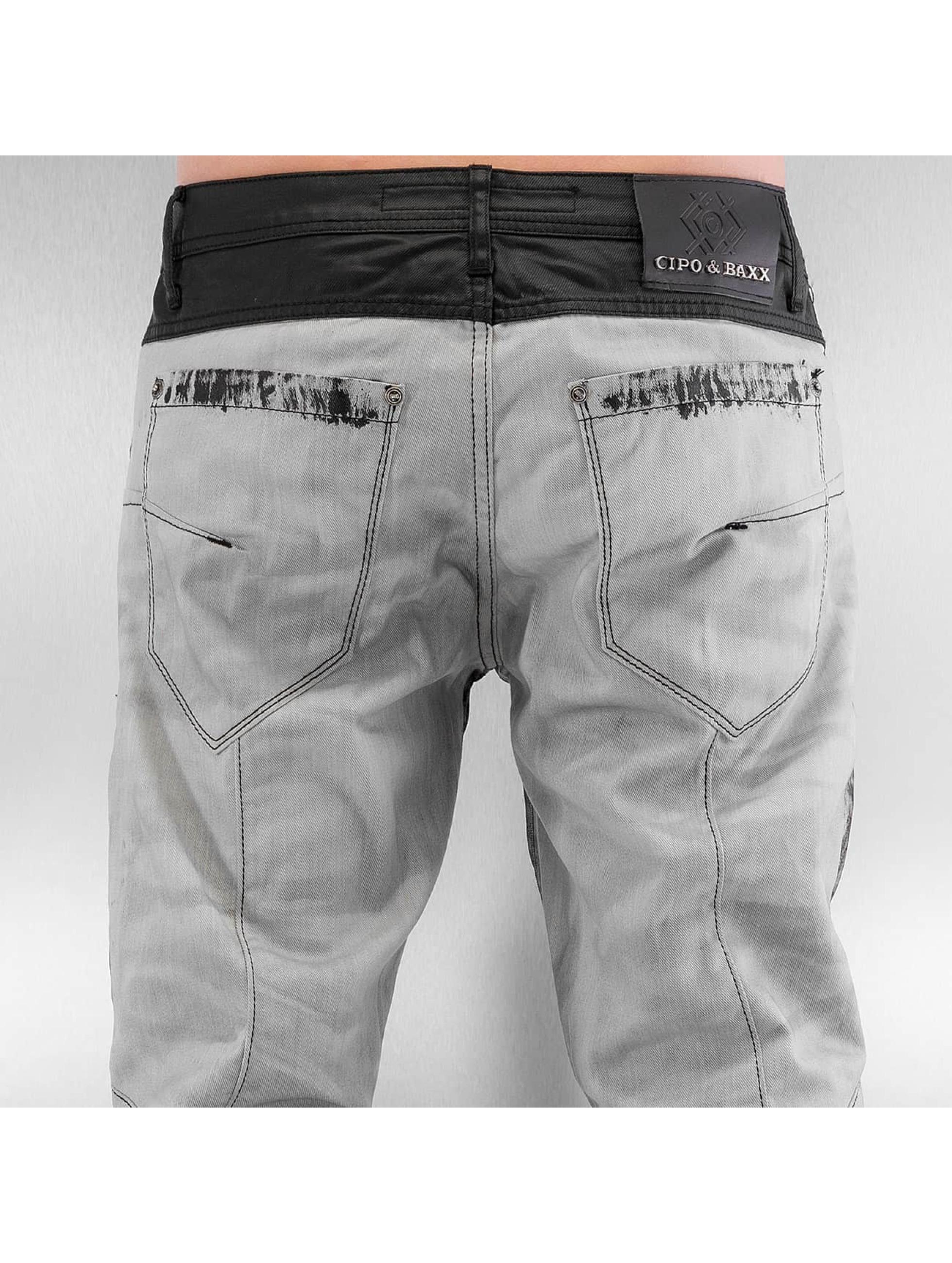 Cipo & Baxx Straight fit jeans Kobbi zwart