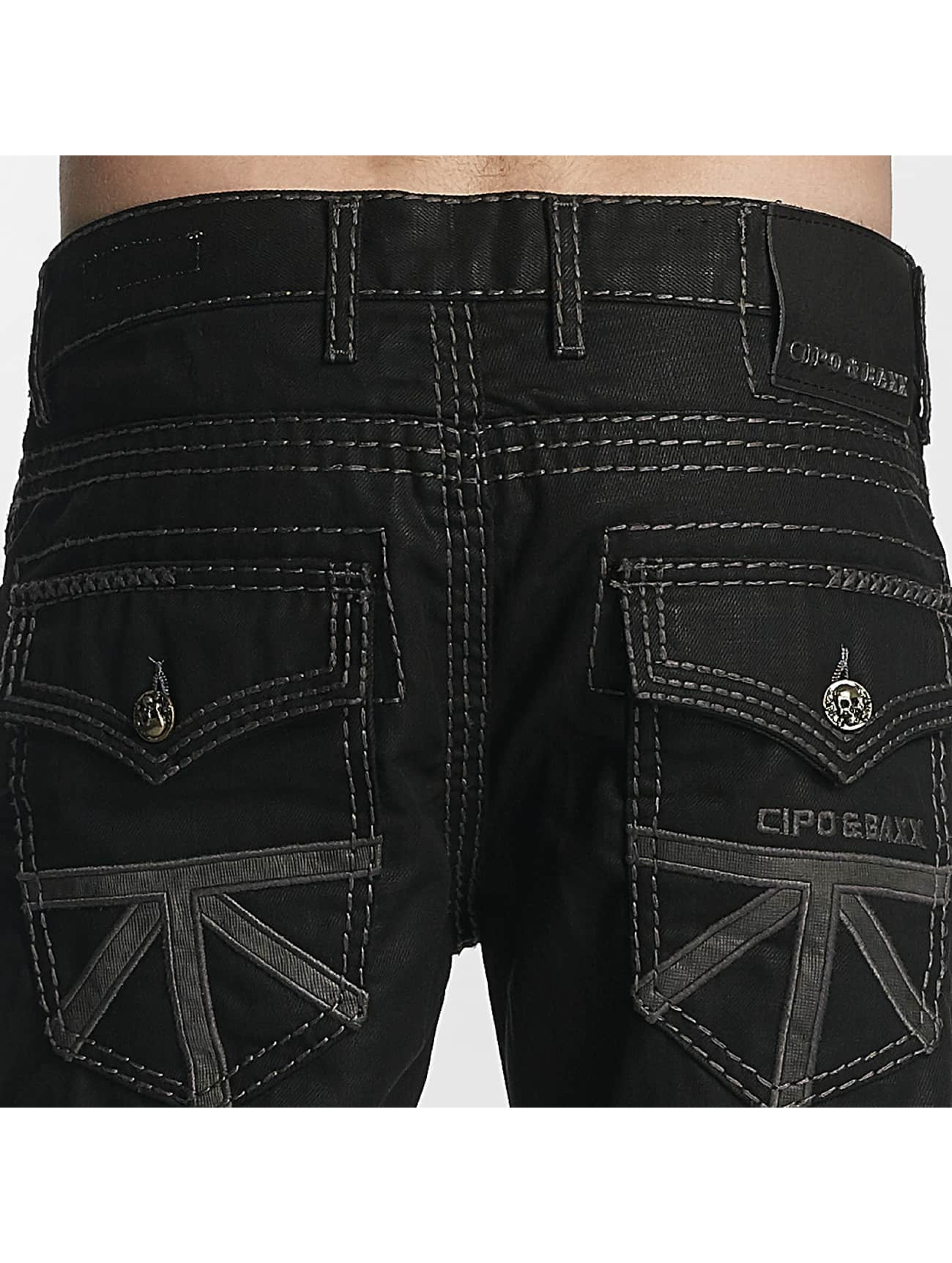 Cipo & Baxx Straight fit jeans Zachary zwart