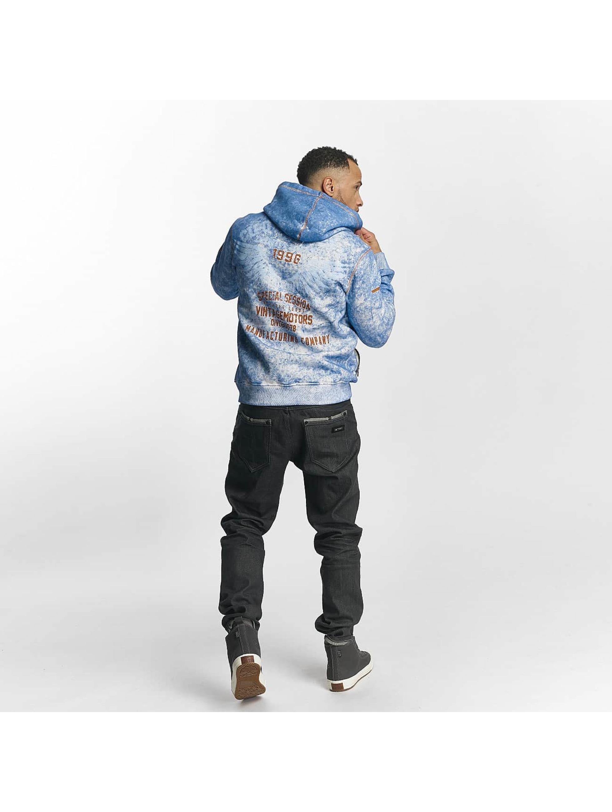 Cipo & Baxx Sweat capuche zippé Brad bleu