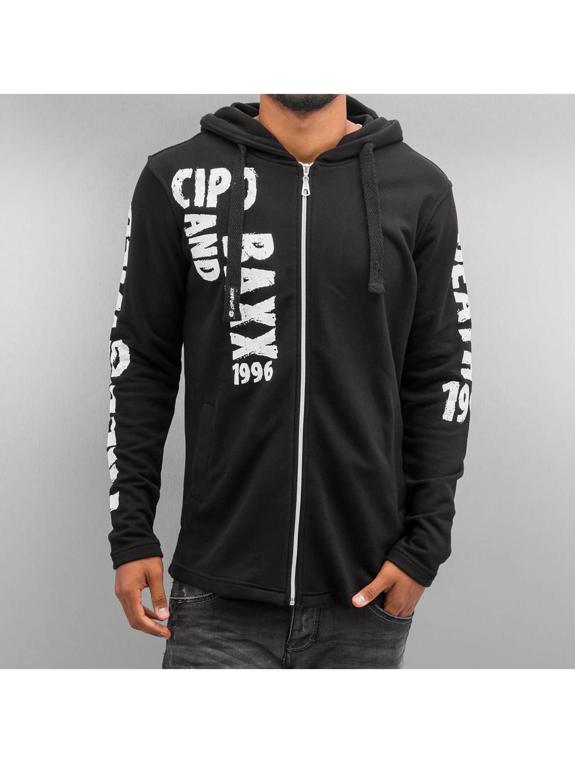 Cipo & Baxx Sweat capuche zippé Free And Wild noir