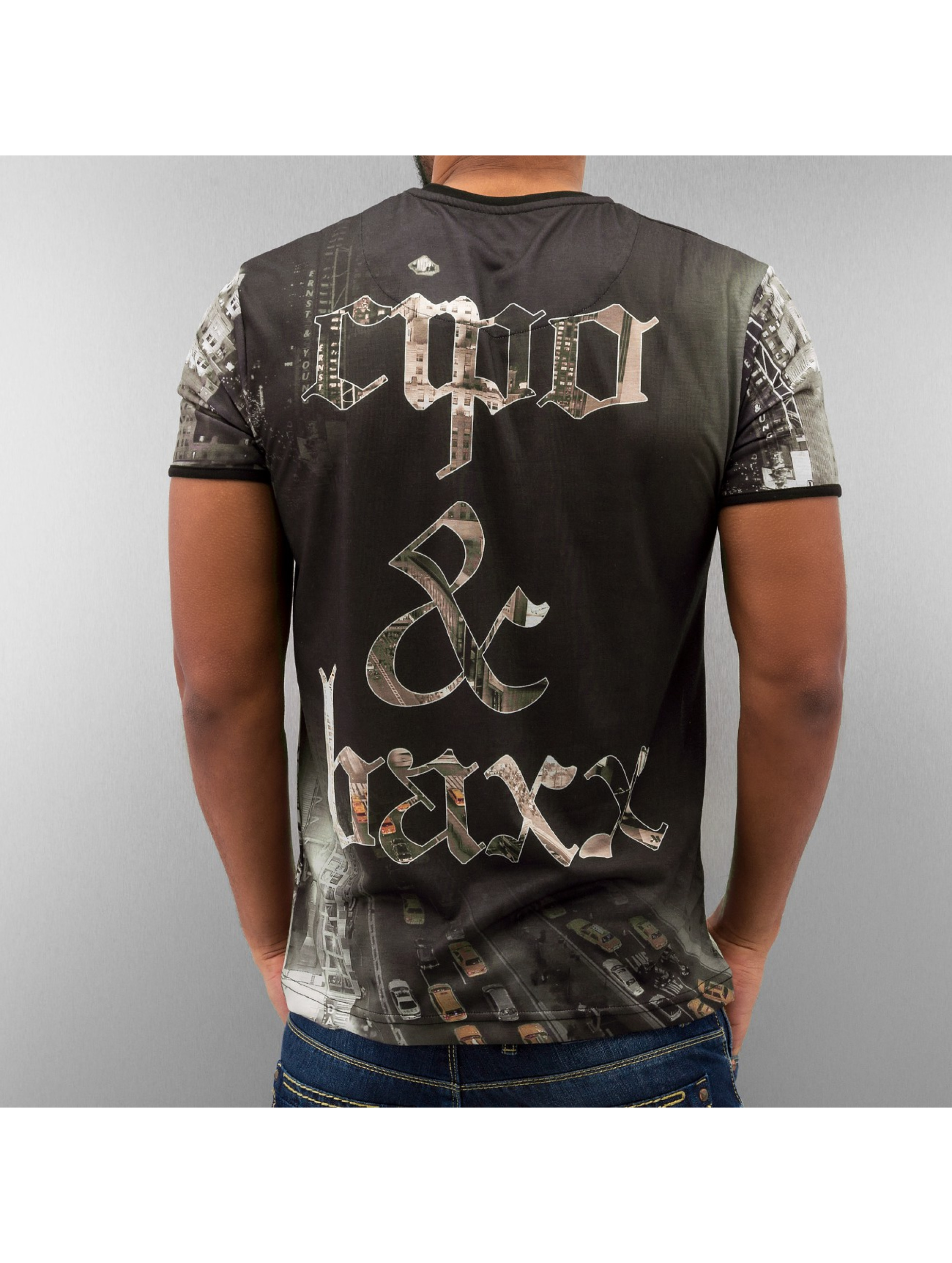 Cipo & Baxx T-Shirt New York schwarz