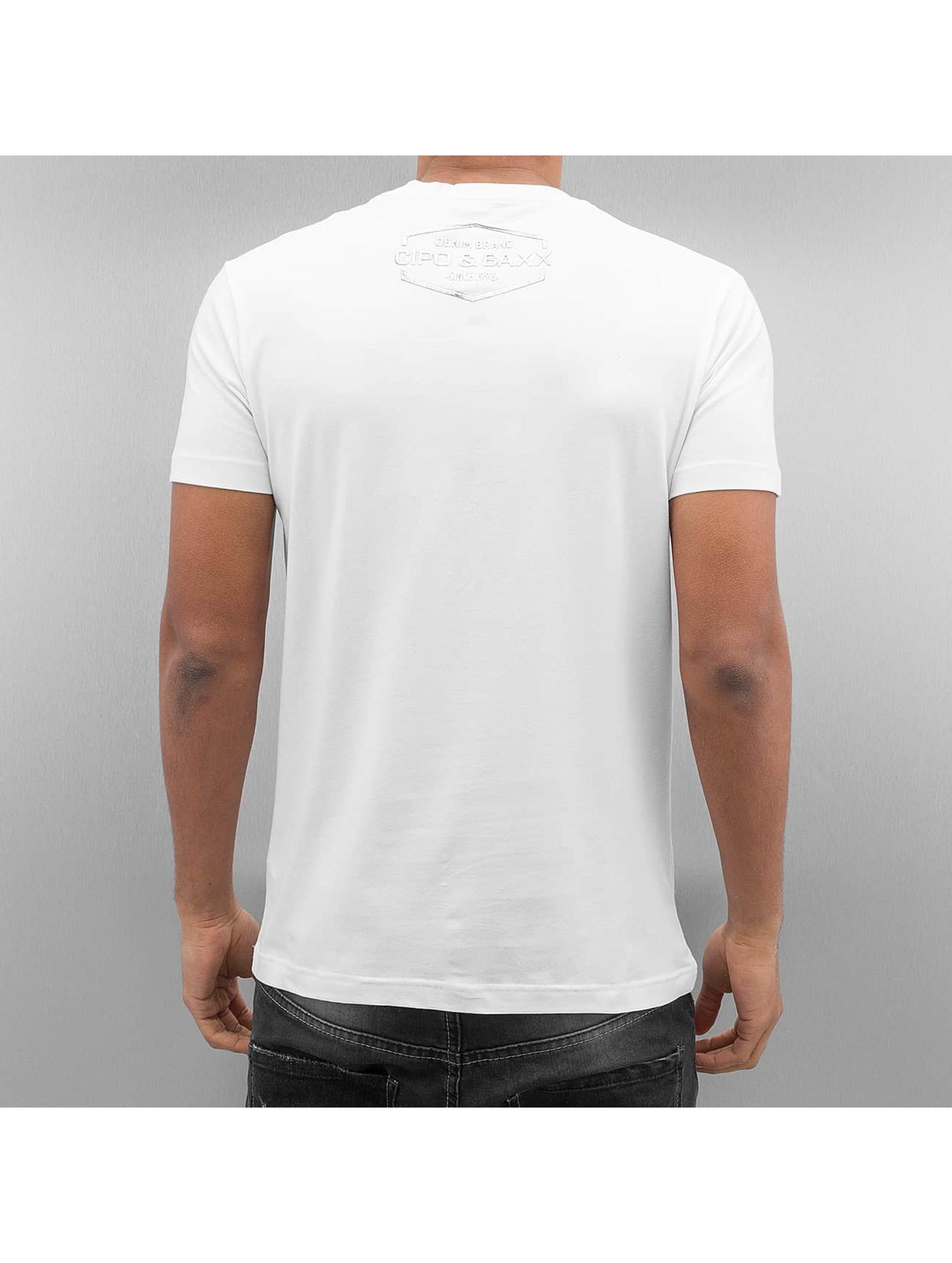 Cipo & Baxx T-Shirts Lismore beyaz