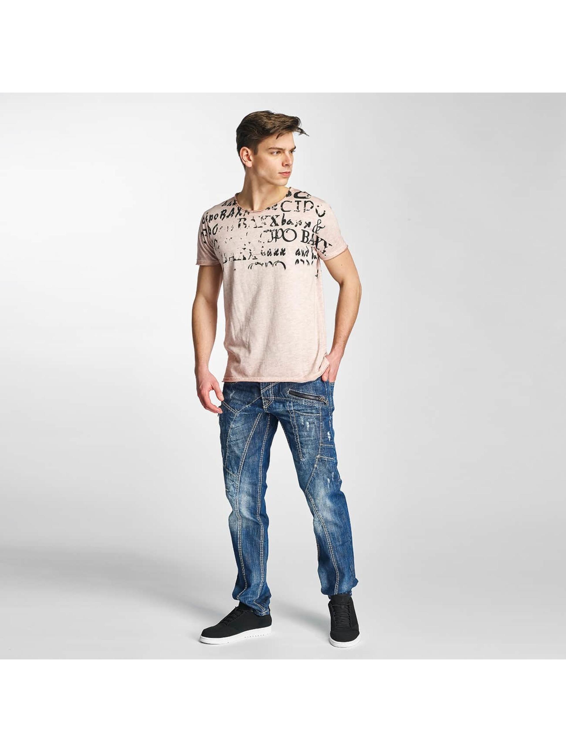 Cipo & Baxx T-Shirty Fritz G rózowy