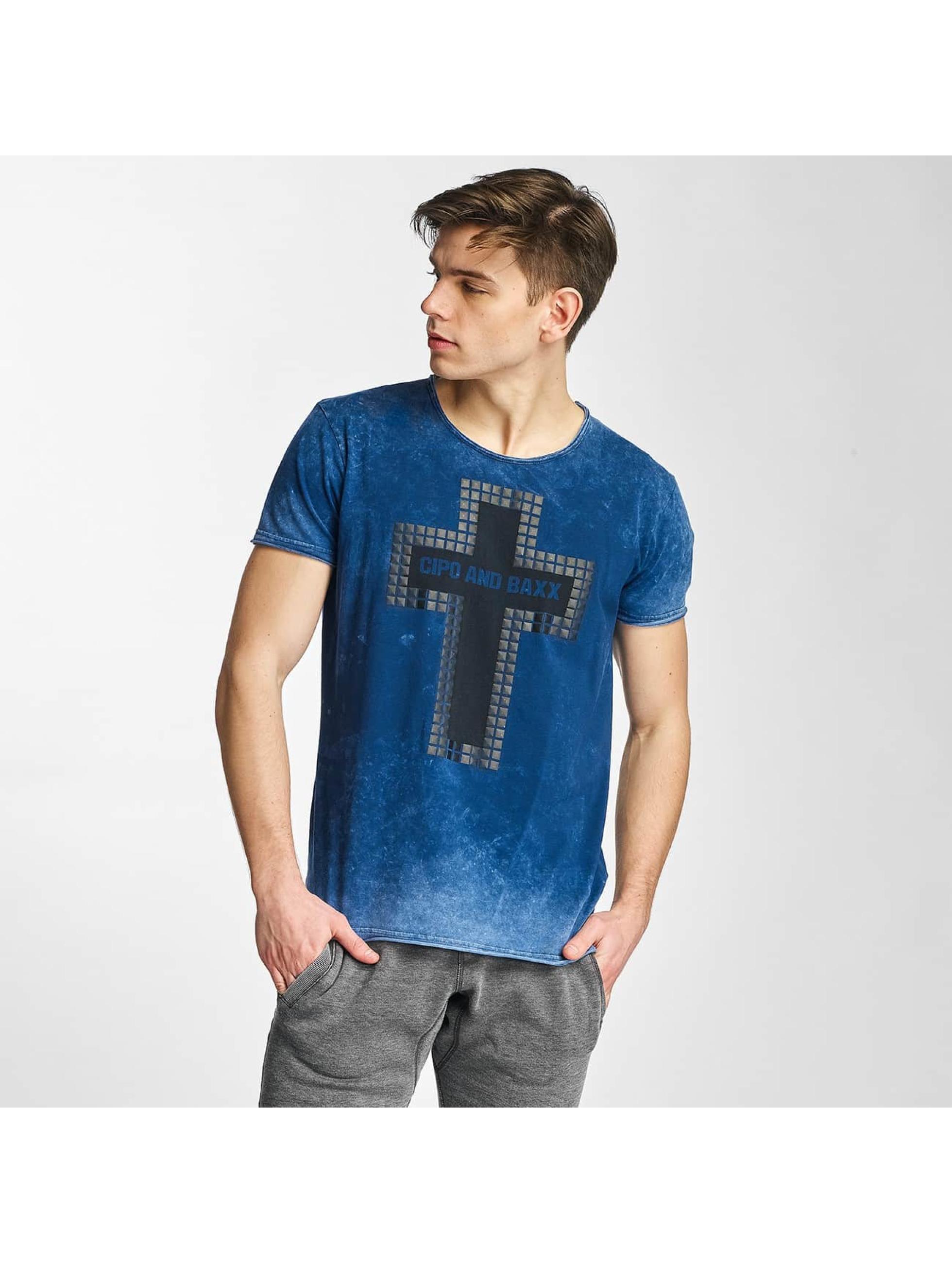 Cipo & Baxx T-skjorter Logo indigo