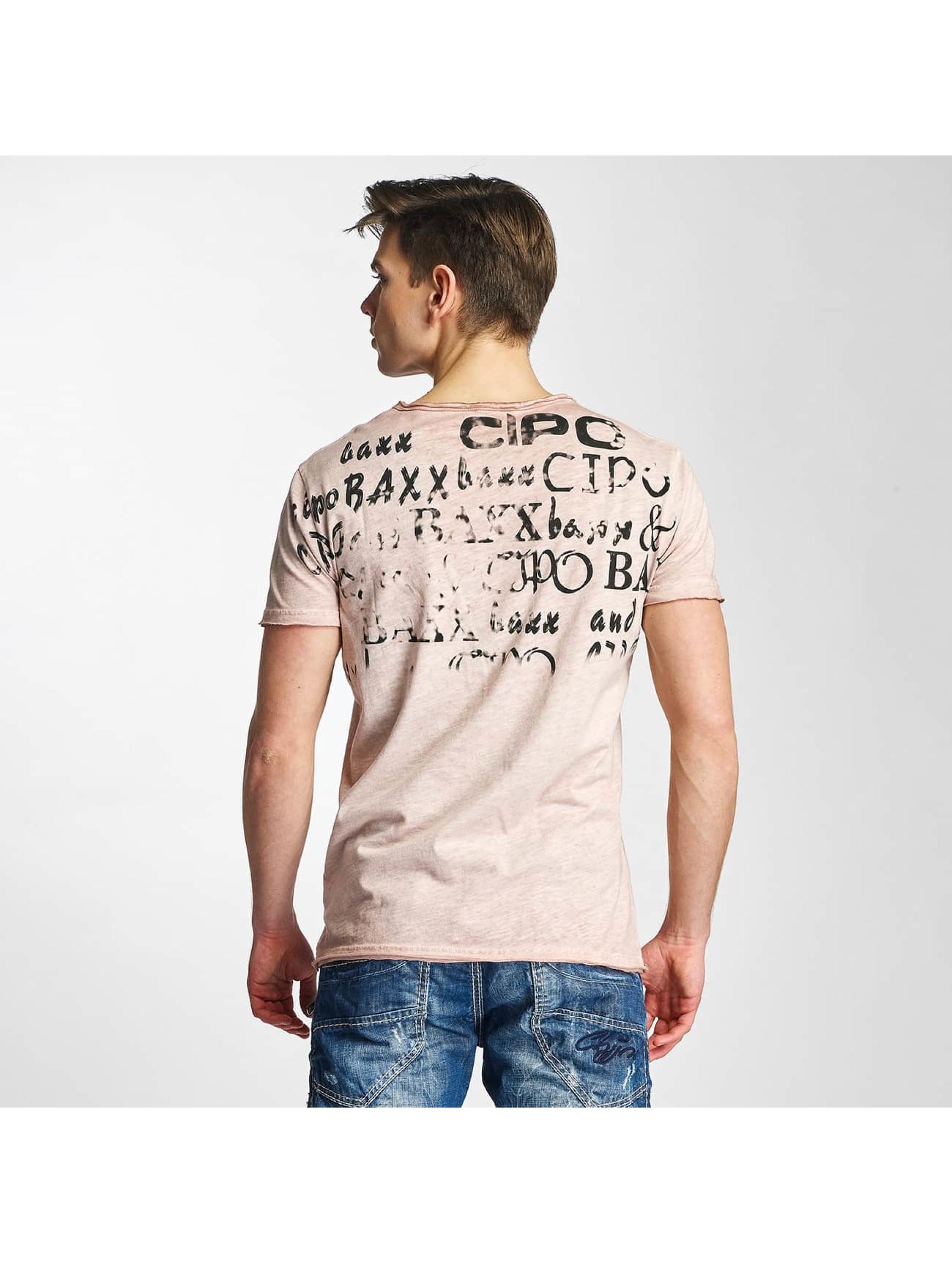 Cipo & Baxx T-skjorter Fritz G rosa