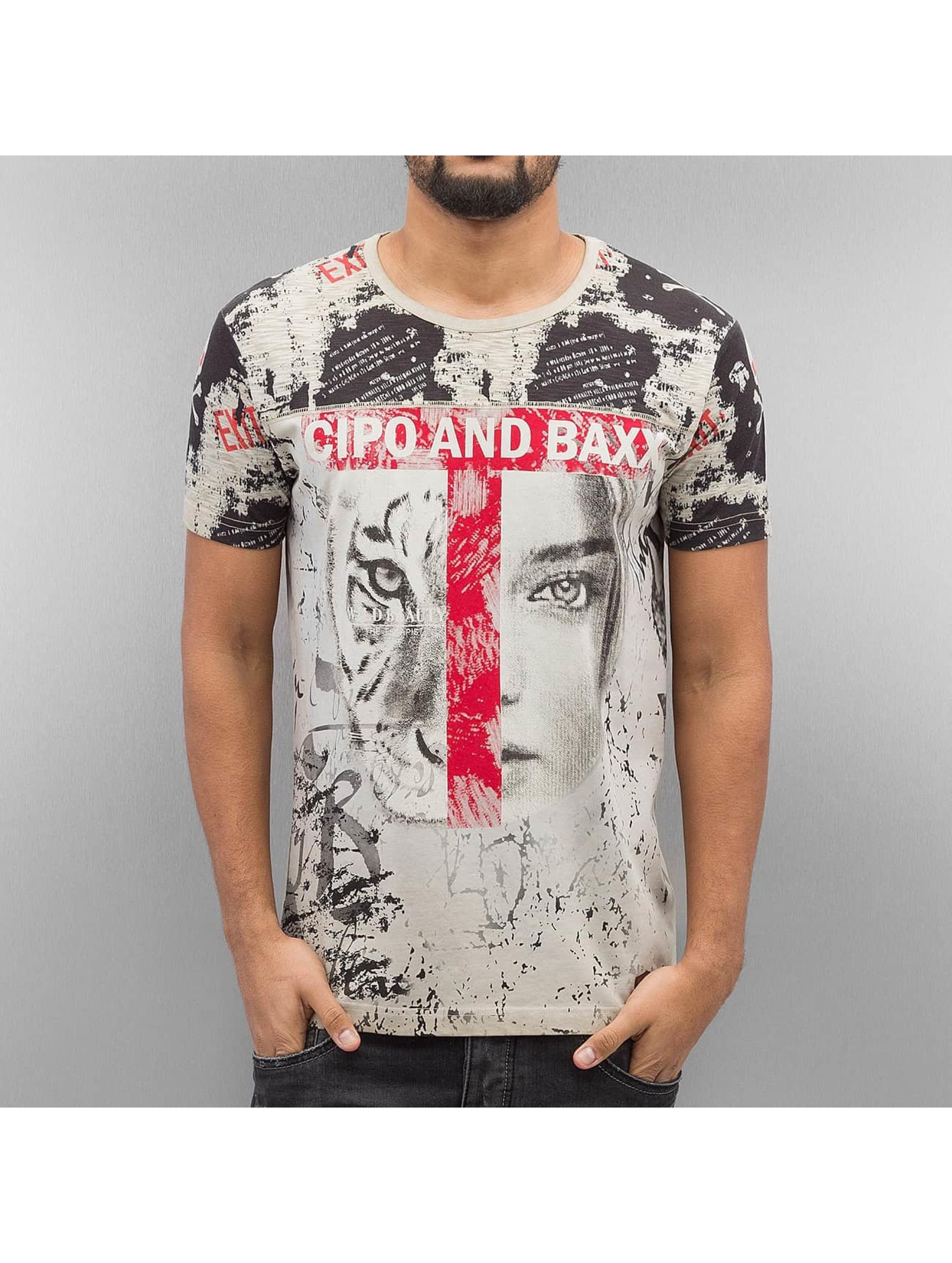 Cipo & Baxx Tričká Wildbeauty hnedá