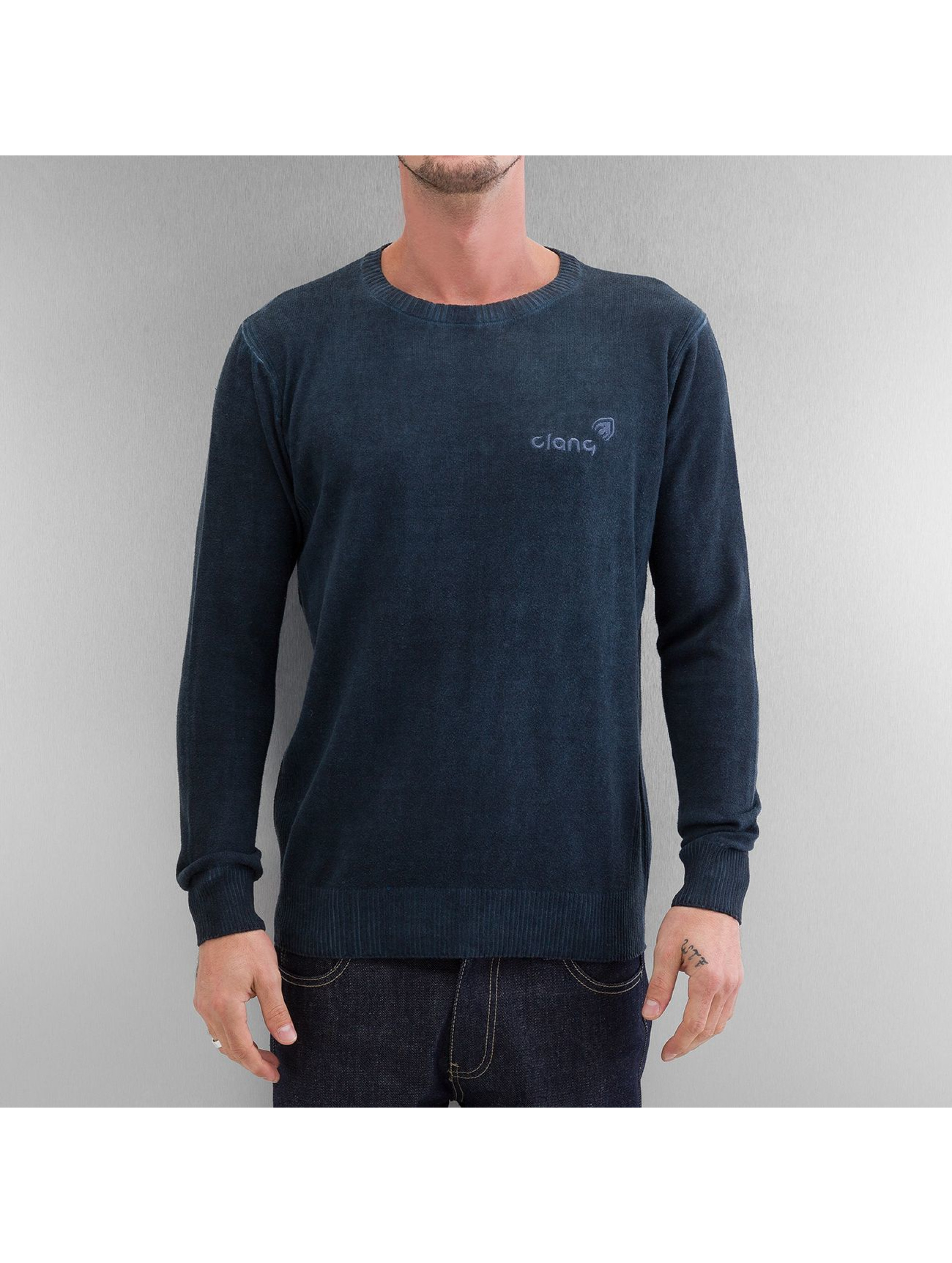 Clang Puserot Oilwashed Knitted sininen