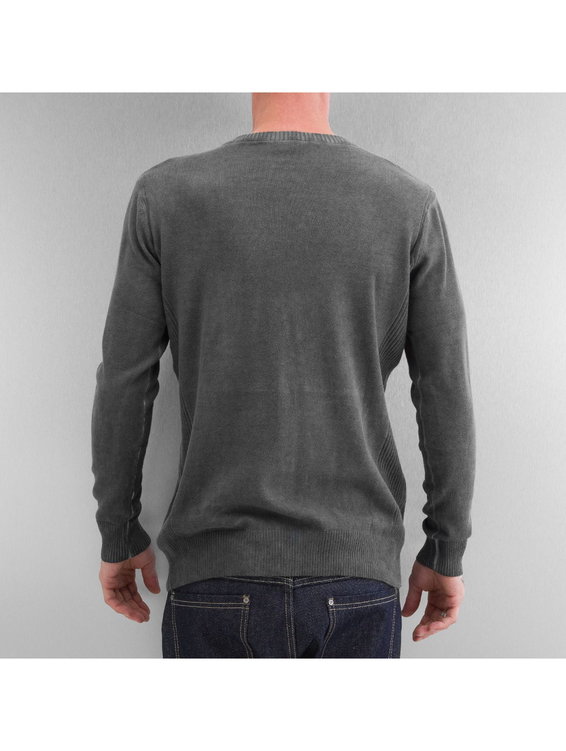 Clang Sweat & Pull Oilwashed Knitted gris