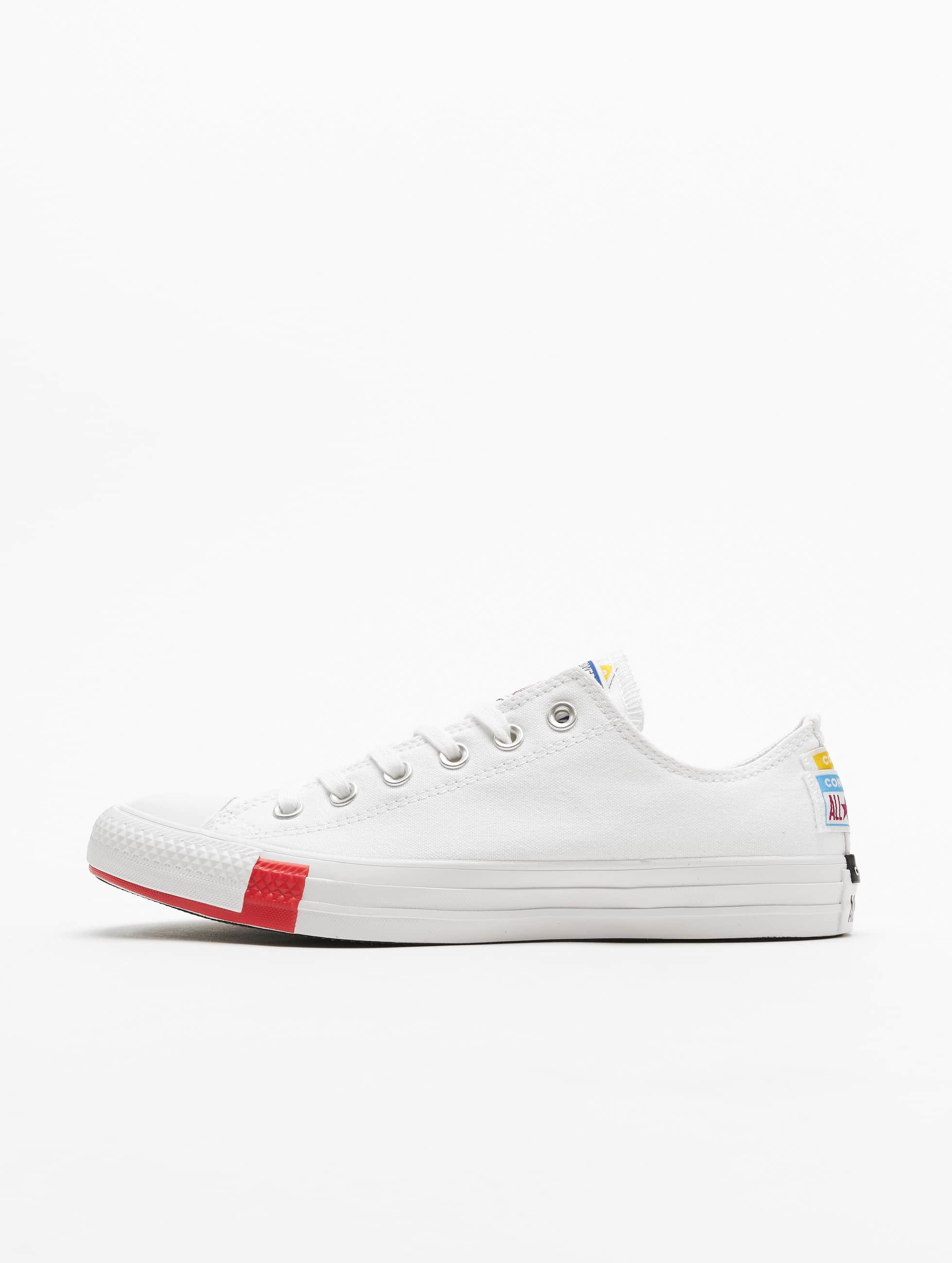 Converse Ctas Ox Sneakers WhiteUniversity RedBlack