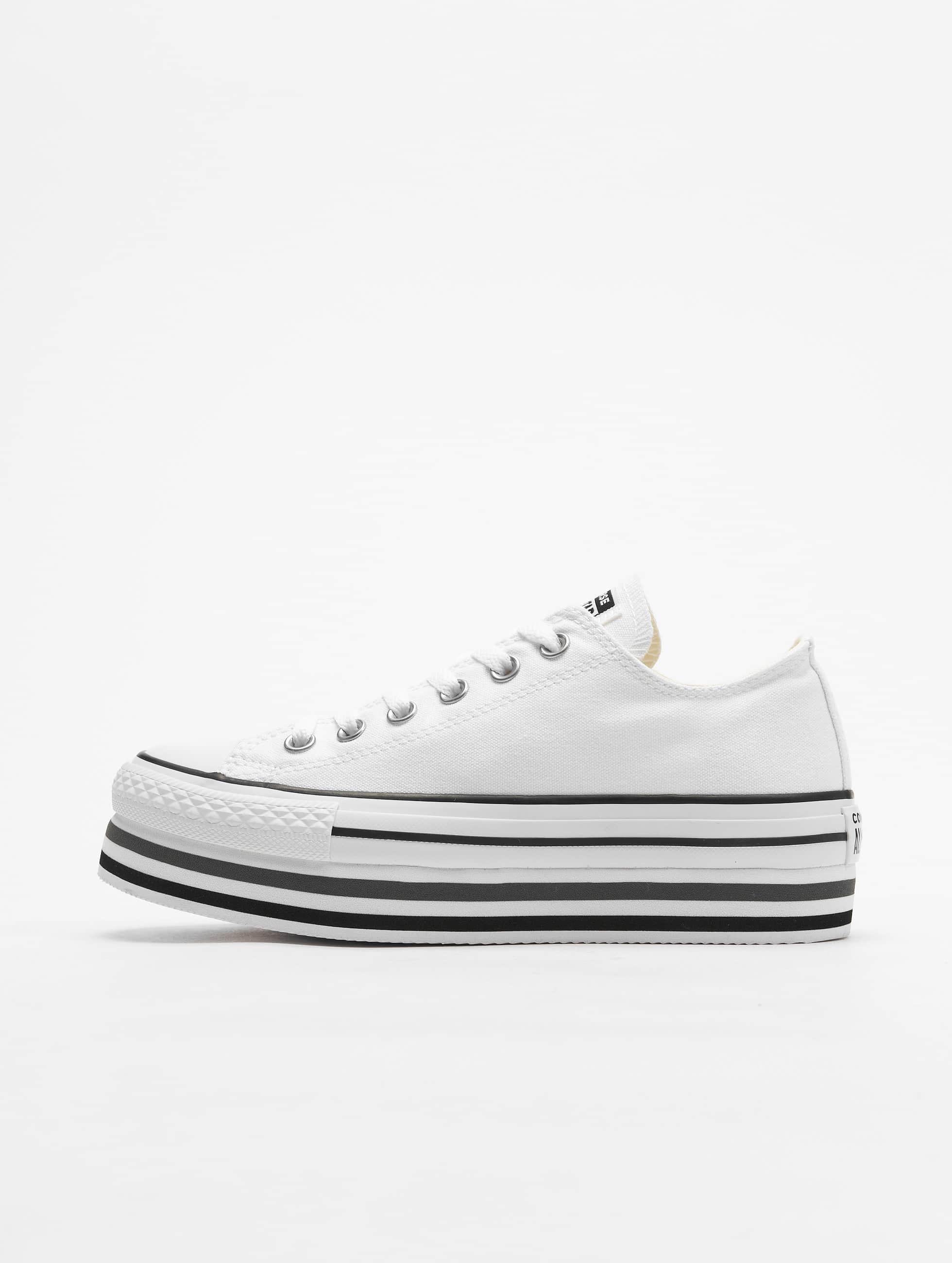 Converse Chuck Taylor All Star Platform Layer Ox Sneakers WhiteBlackThunder