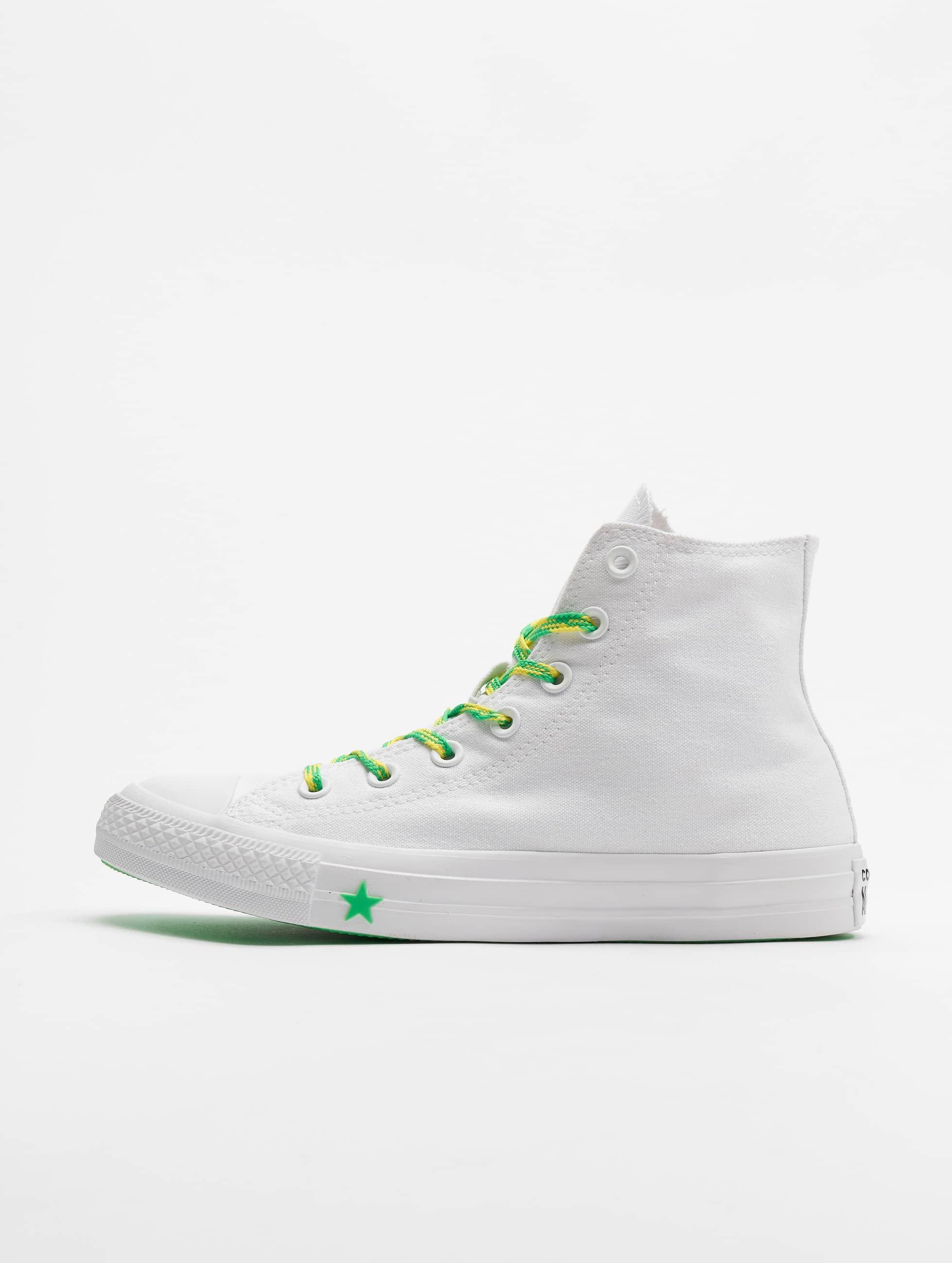 Converse Chuck Tailor All Star Hi Sneakers WhiteAcid GreenFresh Yellow