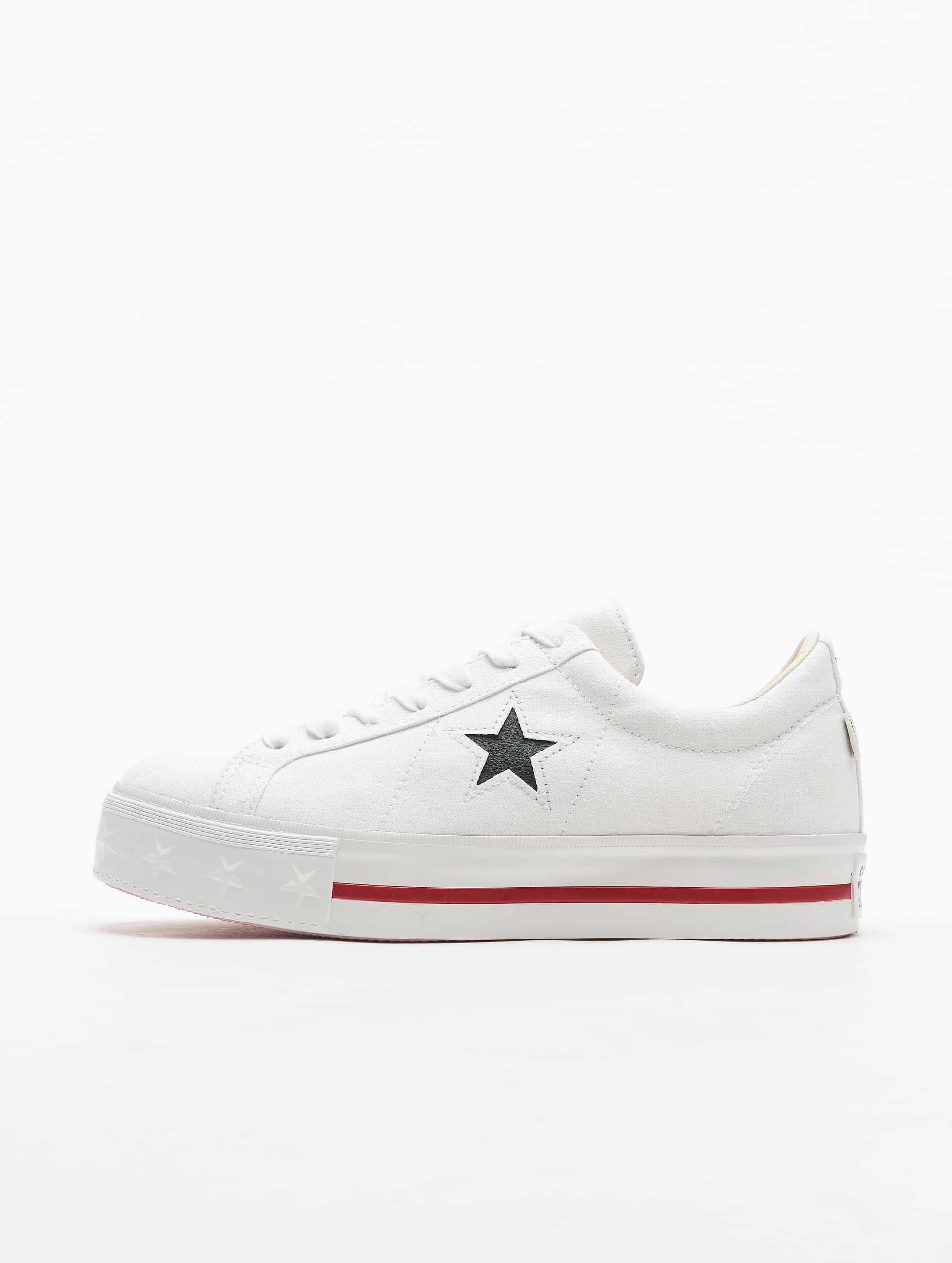 svart and vit One Star Platform Ox dam's Sneakers