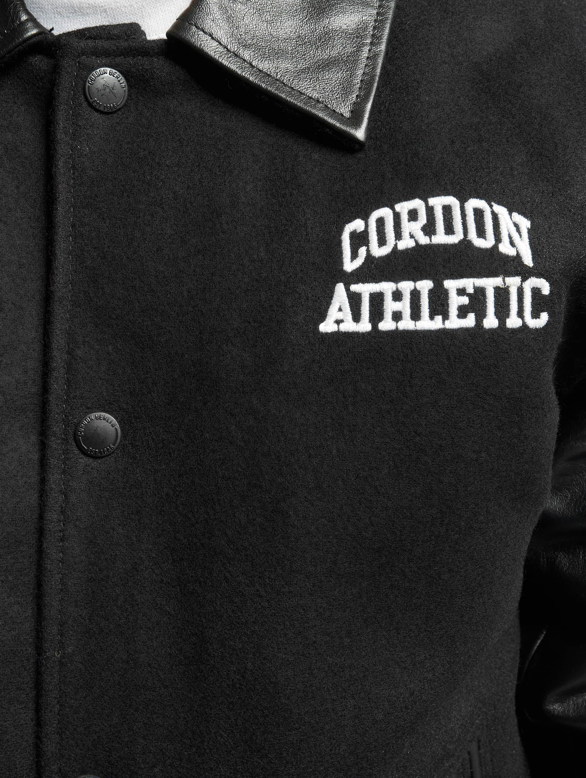 Cordon leren jas Bronx zwart
