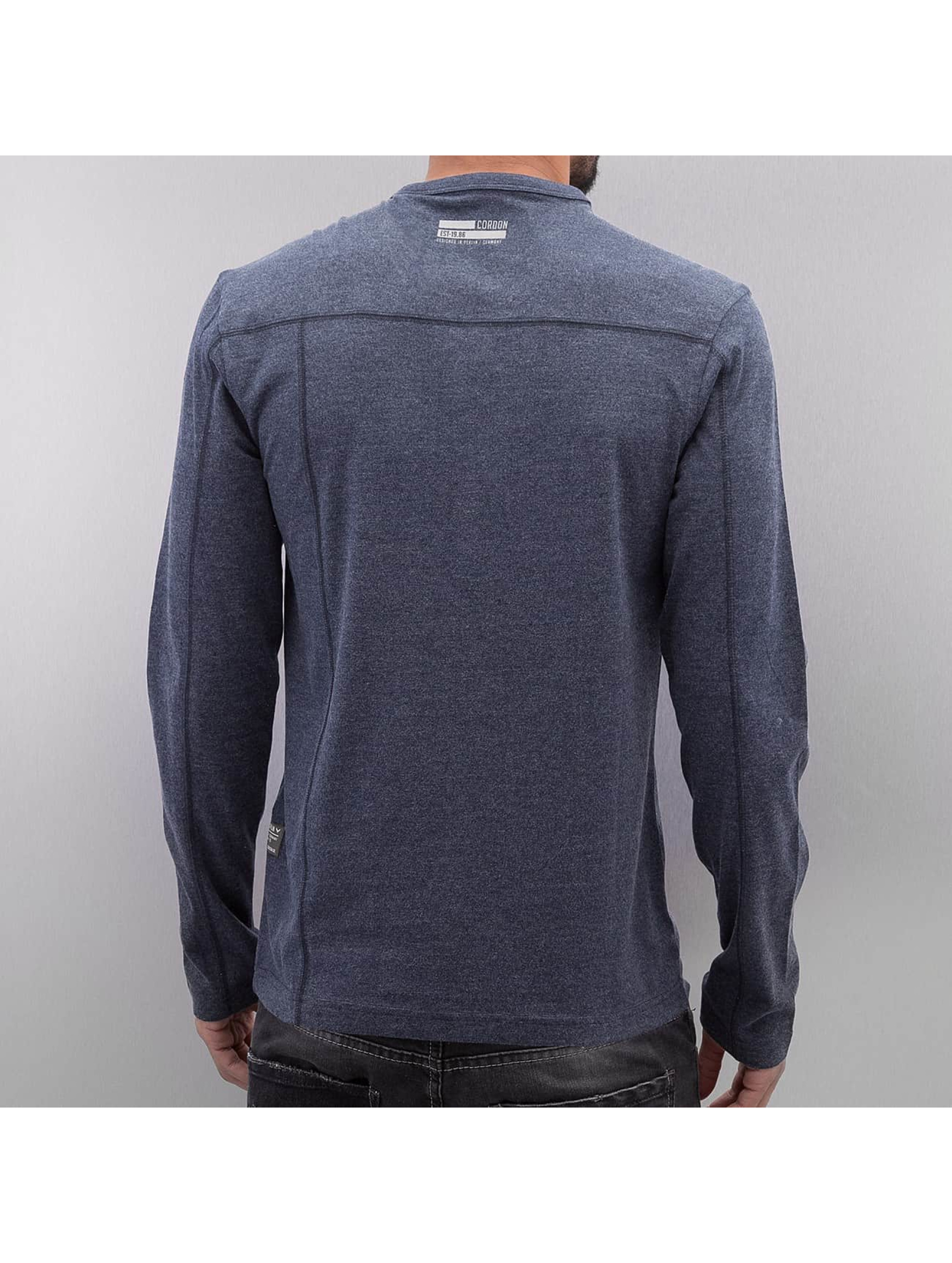 Cordon T-Shirt manches longues Rouven bleu