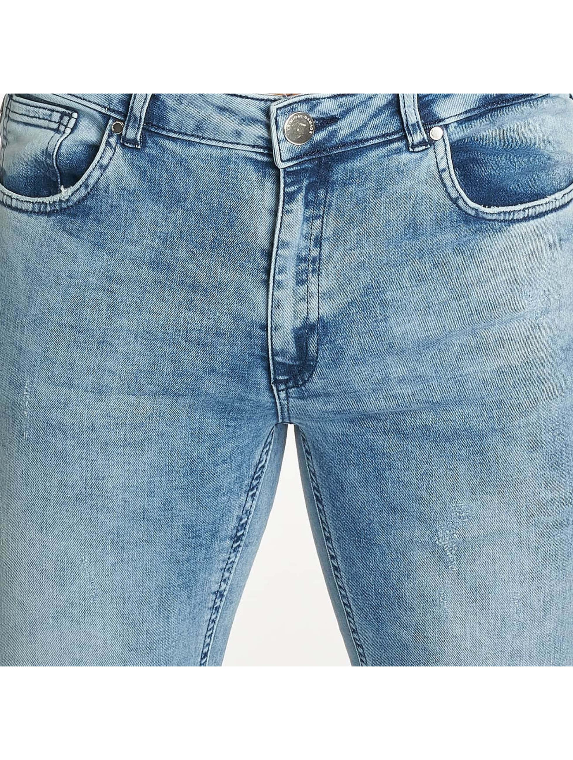 Criminal Damage Jean skinny Notting Spray bleu