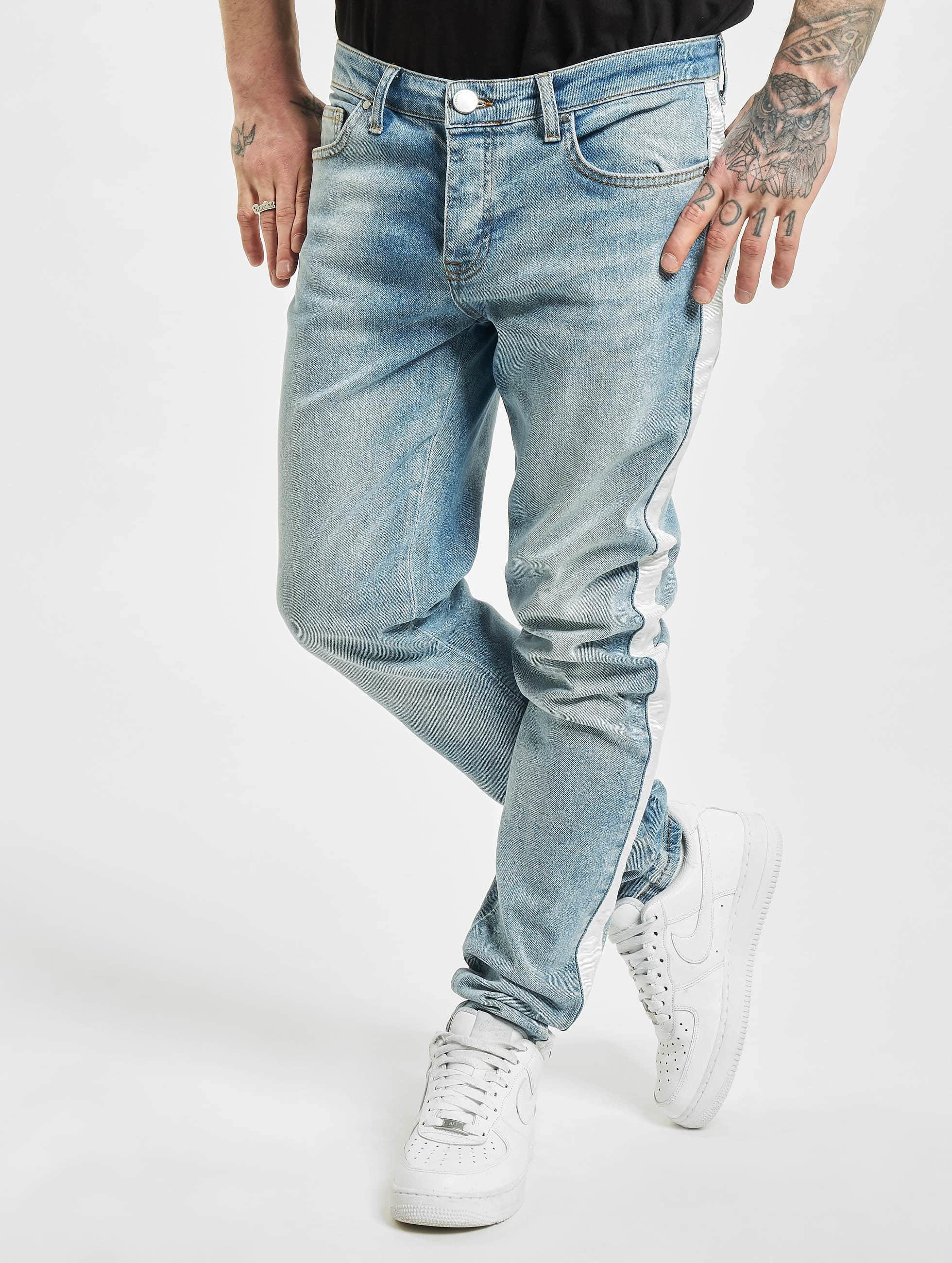 Criminal Damage Jean skinny Tape bleu