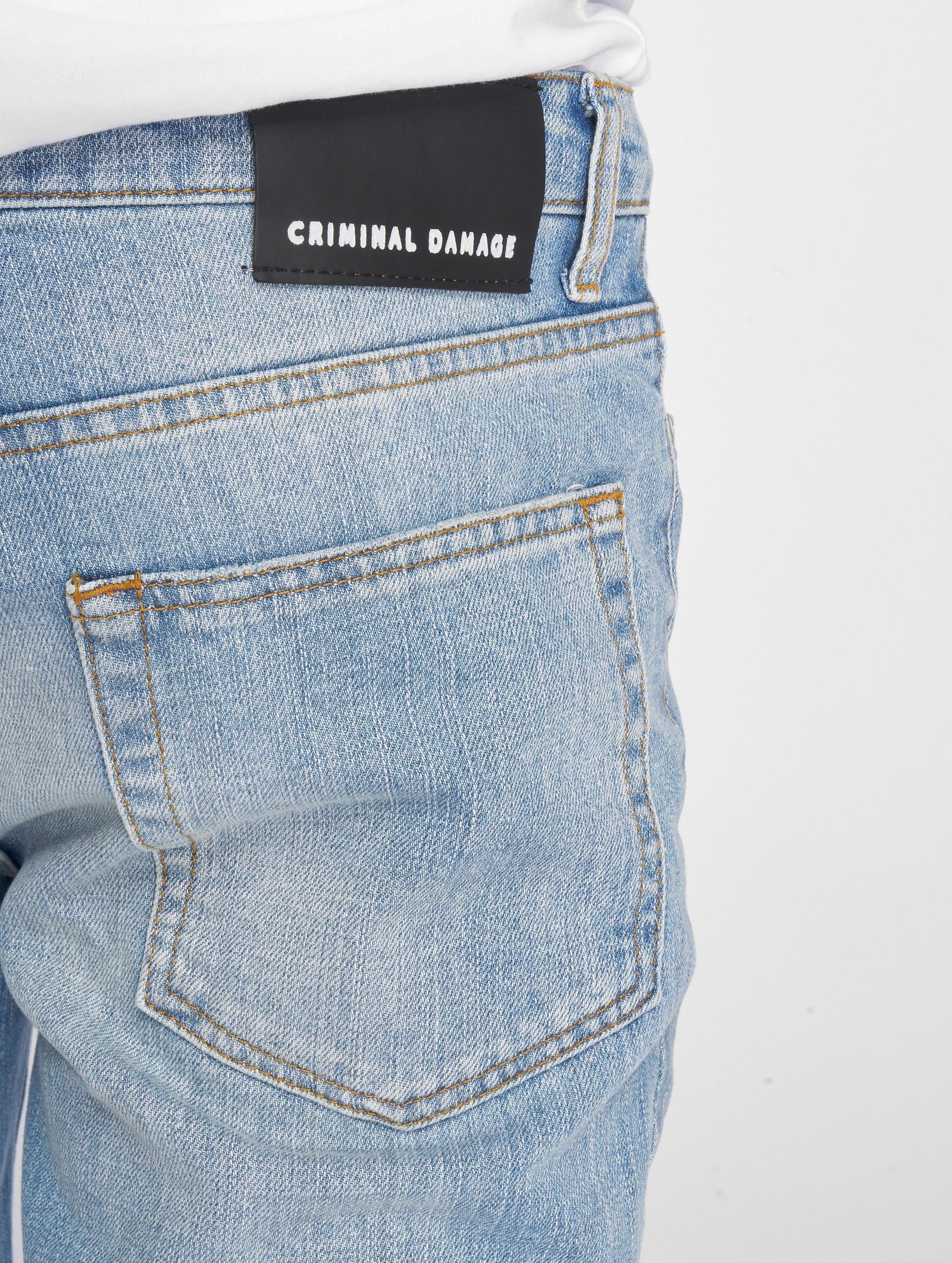 Criminal Damage Jean skinny Uzi bleu