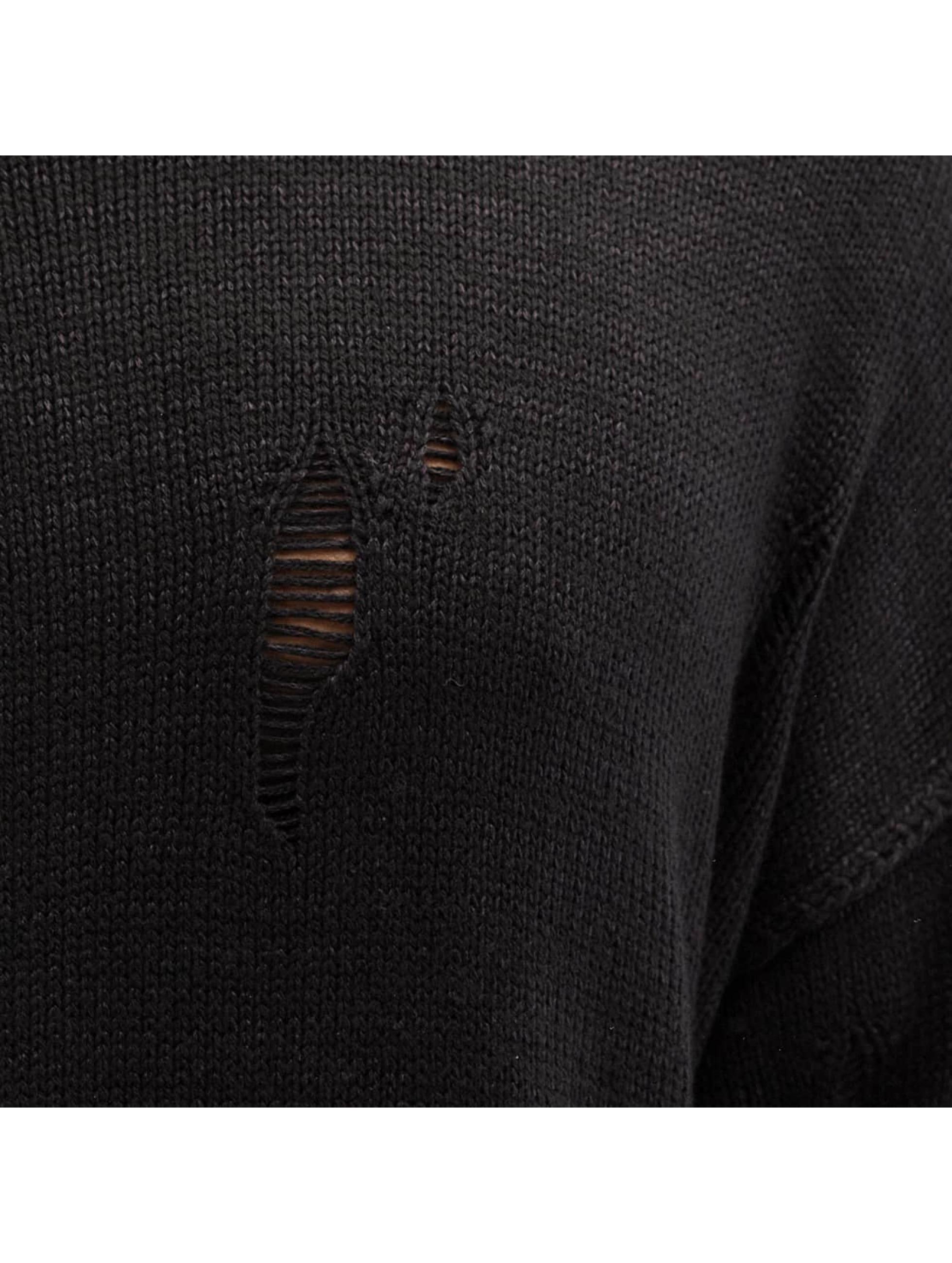 Criminal Damage Jumper Chapel Knit black
