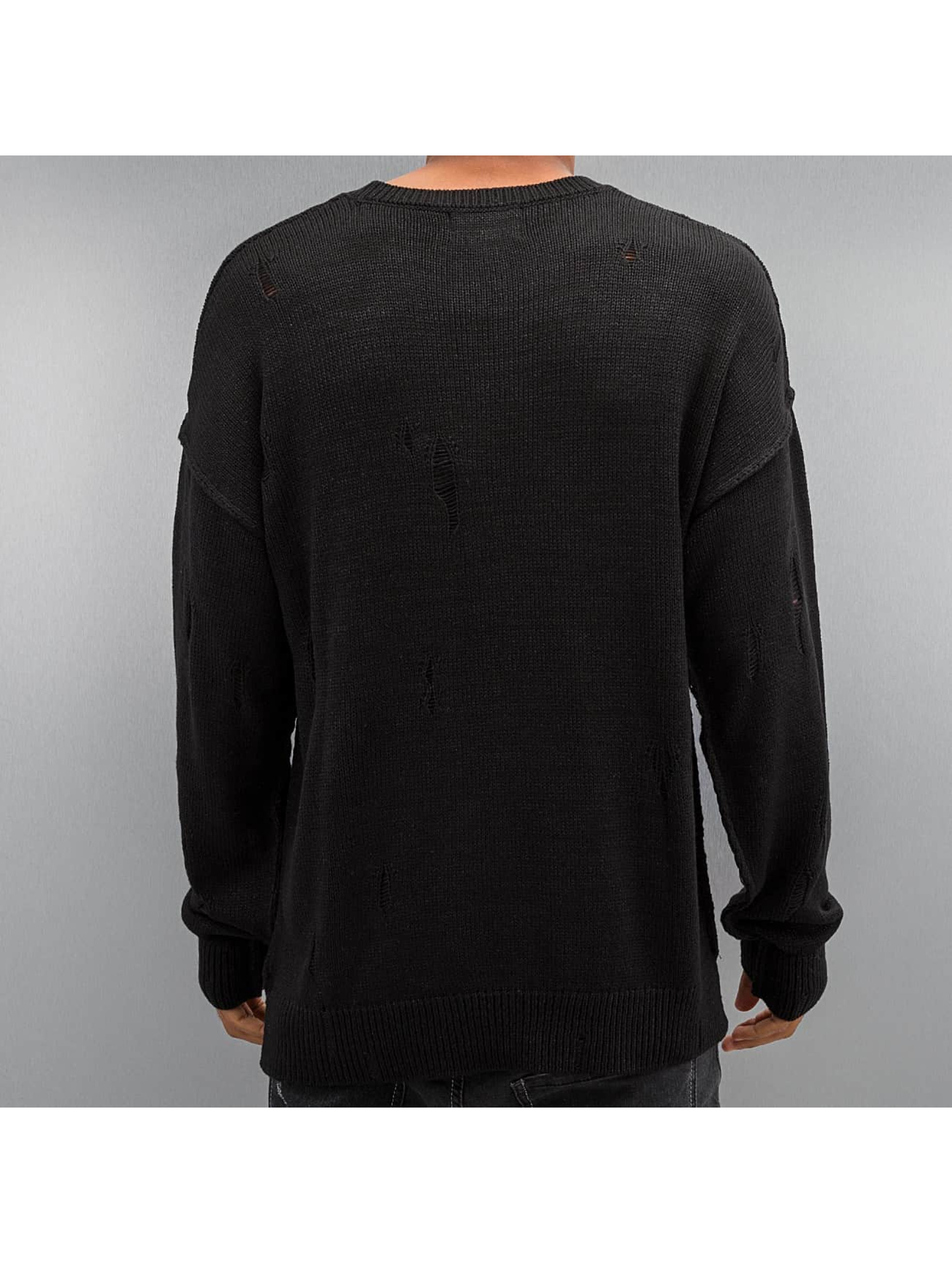 Criminal Damage Pullover Chapel Knit schwarz