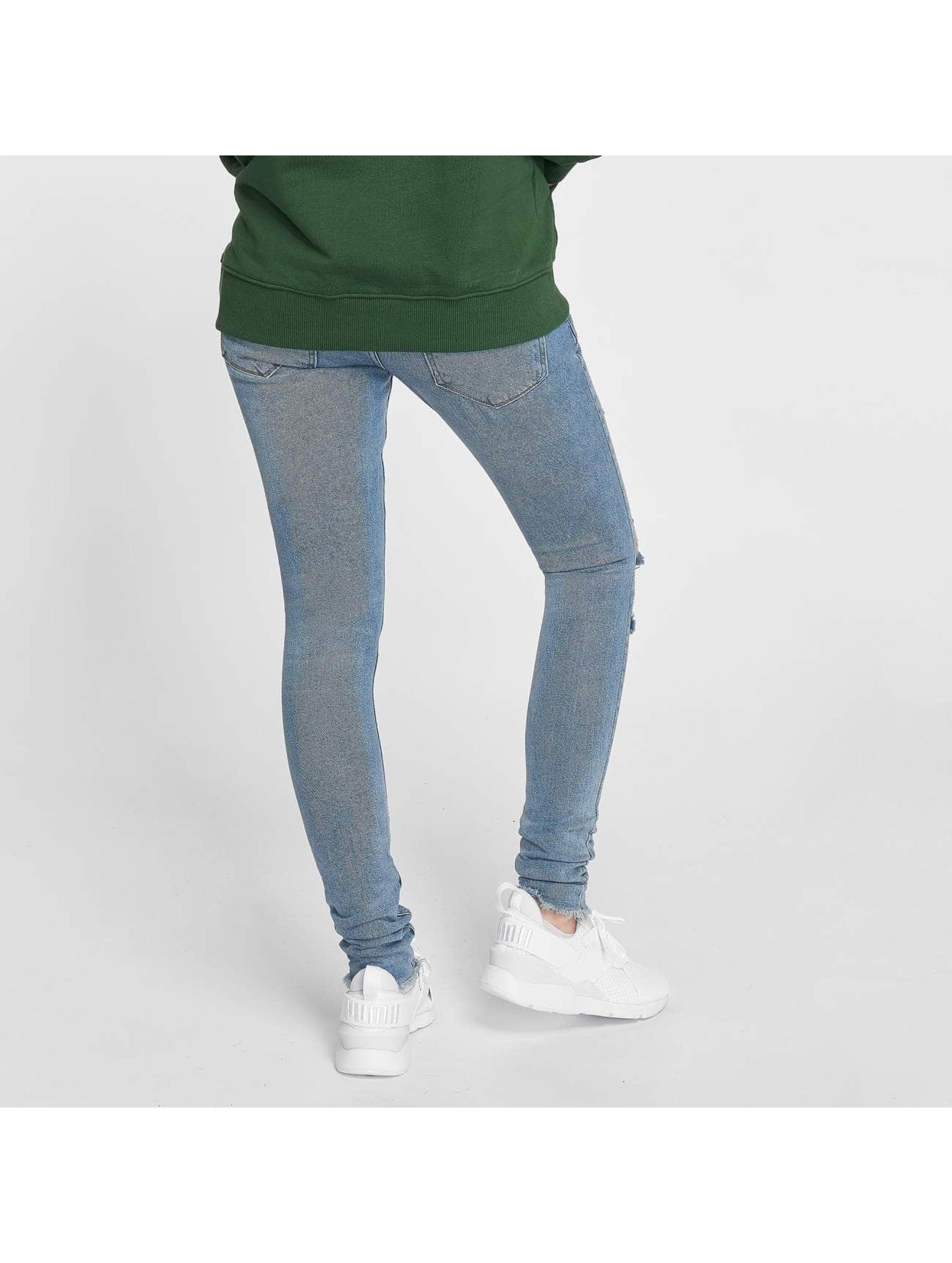 Criminal Damage Skinny Jeans Curtis blau