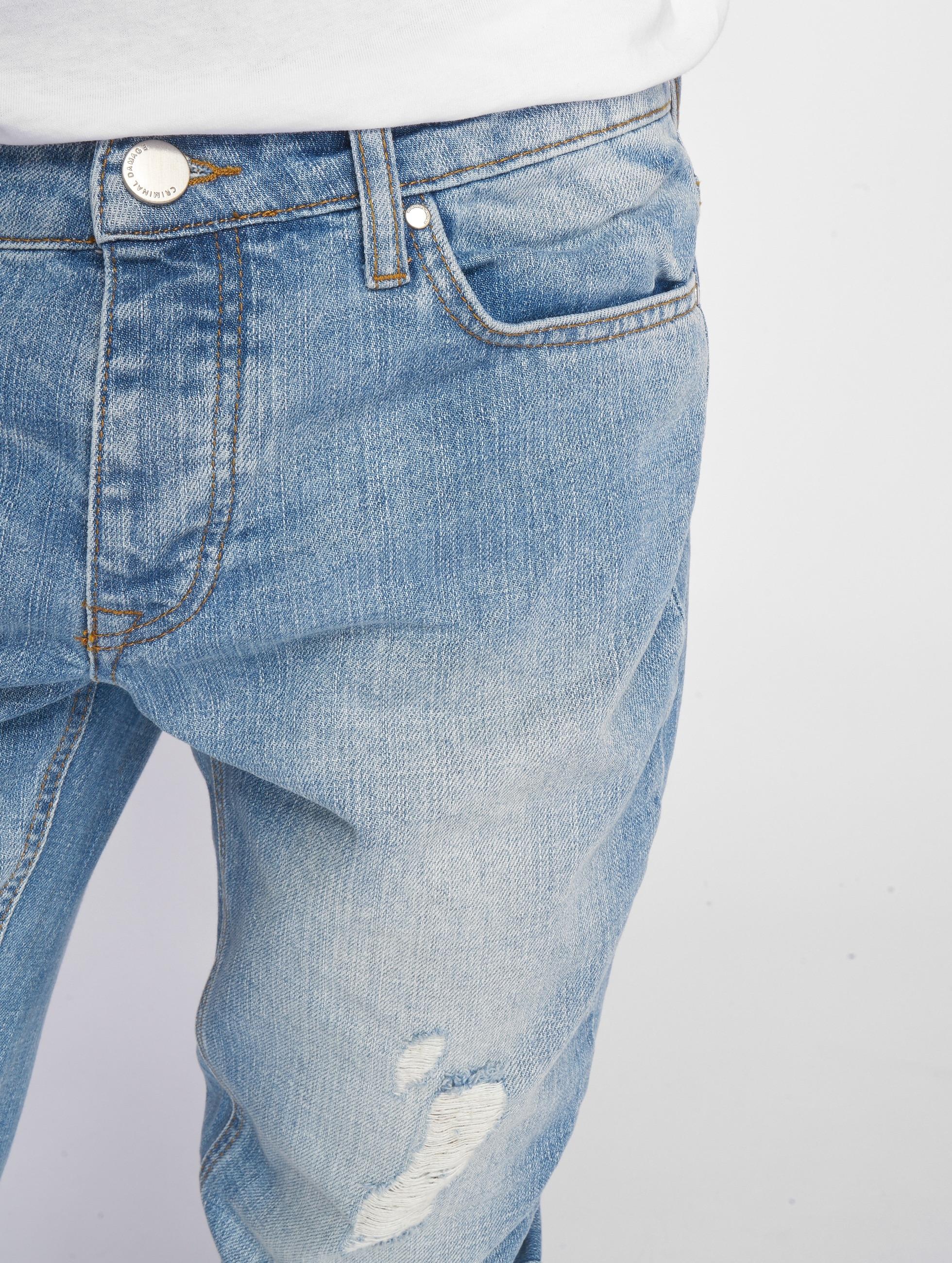 Criminal Damage Skinny Jeans Uzi niebieski