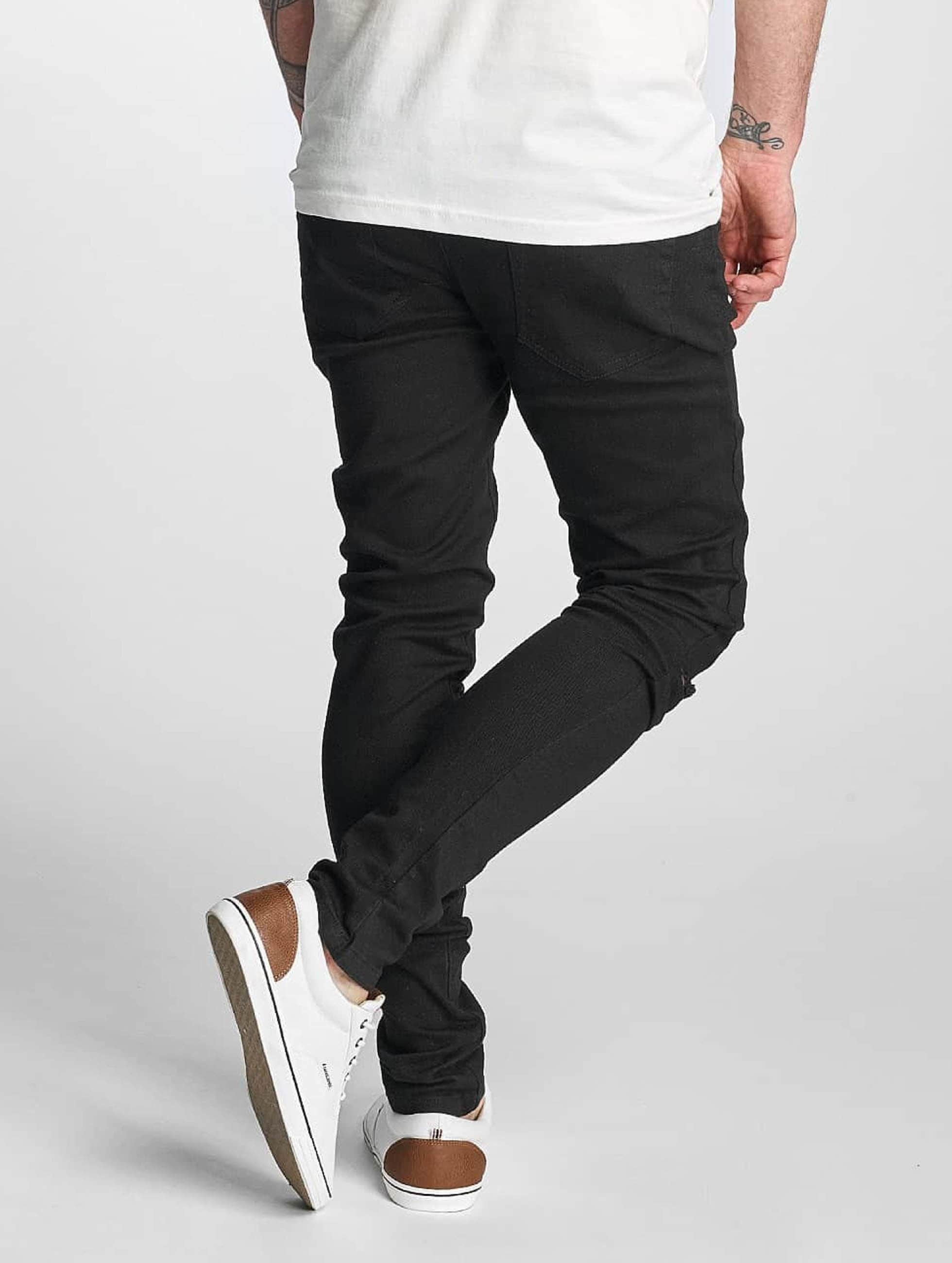 Criminal Damage Skinny Jeans Ripper sort