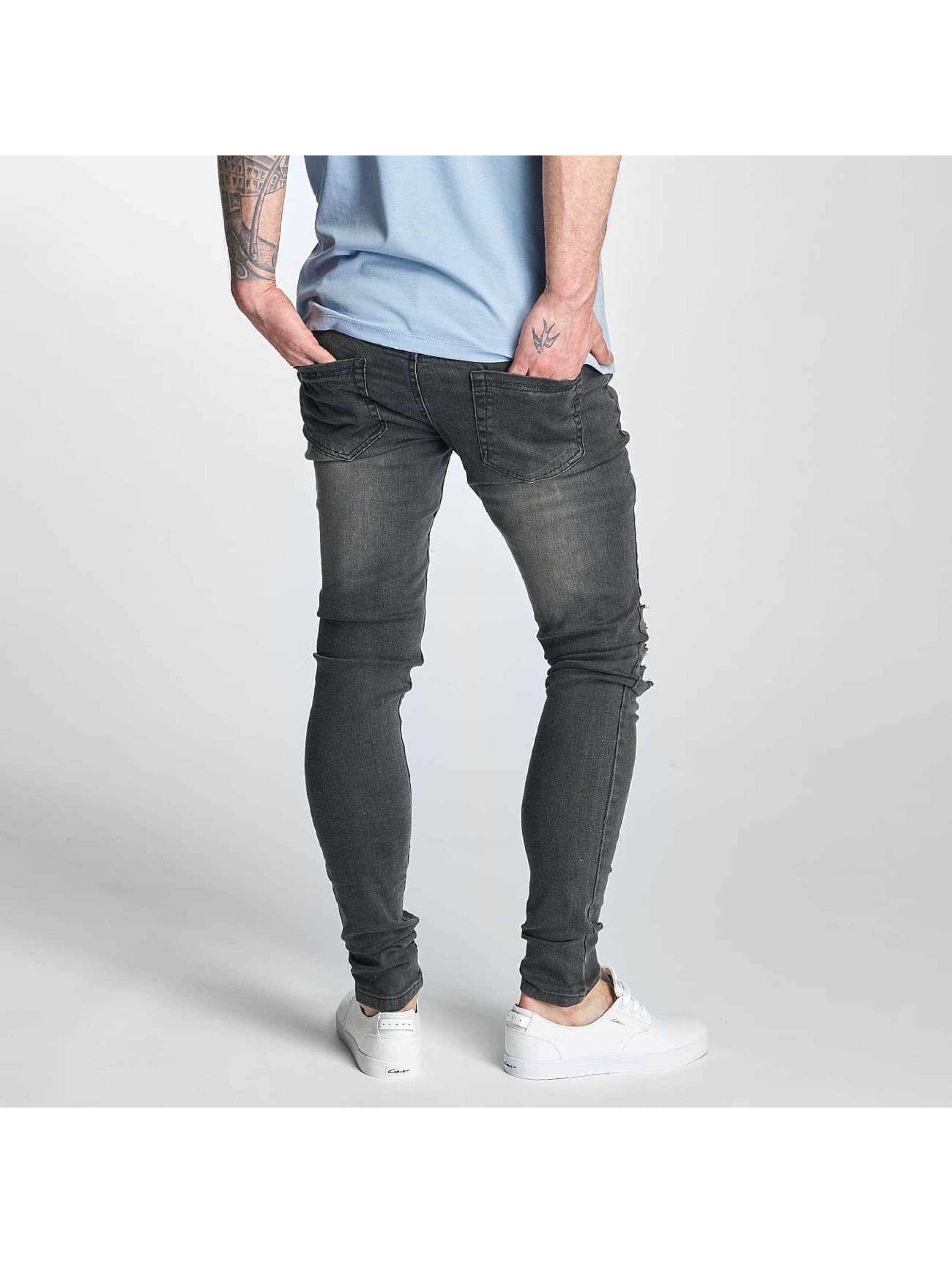 Criminal Damage Skinny Jeans Koko szary