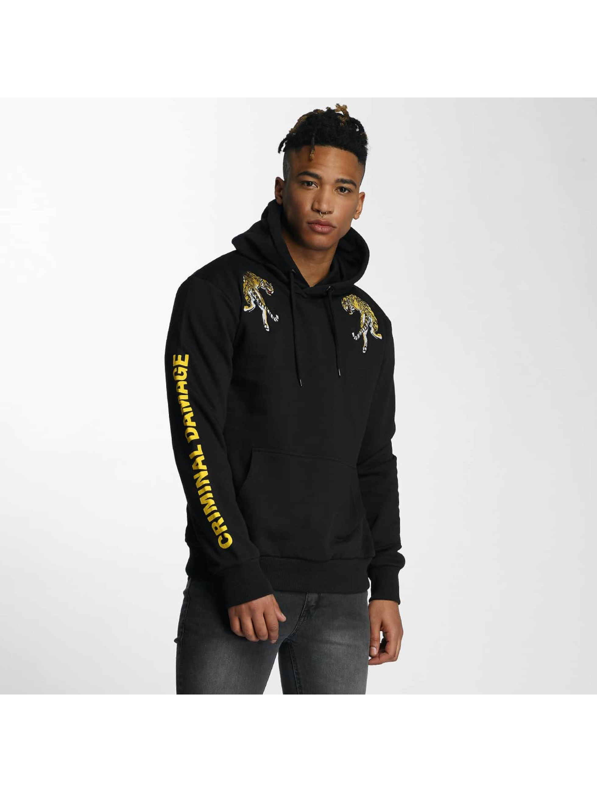Criminal Damage Sweat capuche Tygra noir