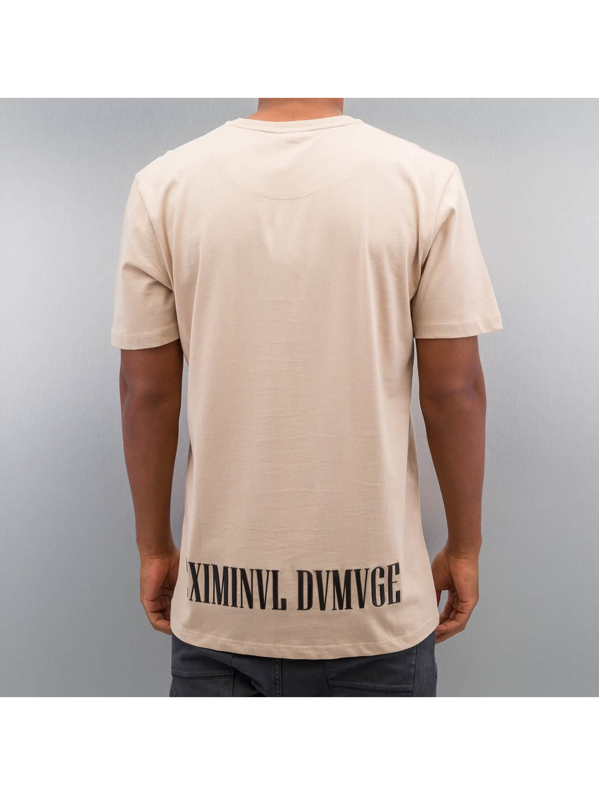 Criminal Damage T-Shirt Decent beige