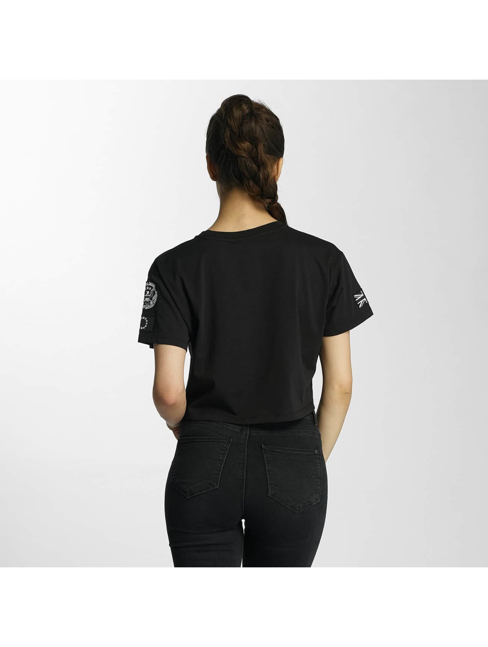 Criminal Damage T-Shirt Aperture Crop black