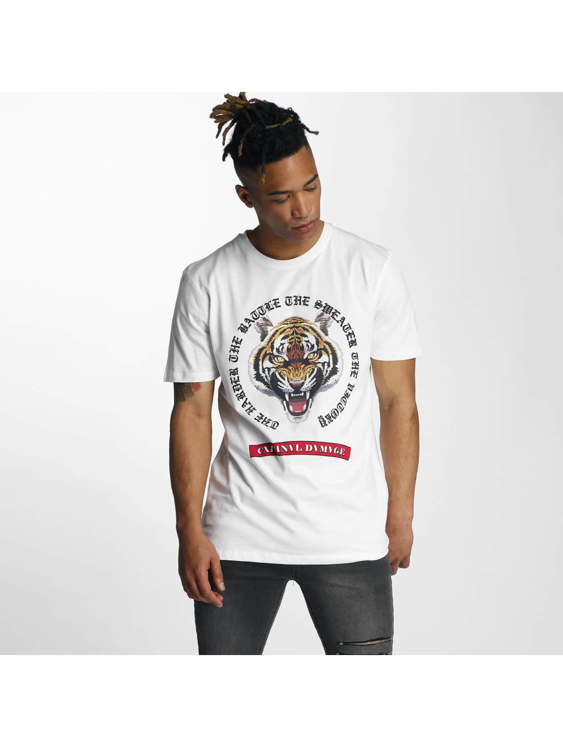 Criminal Damage T-Shirt Battle blanc